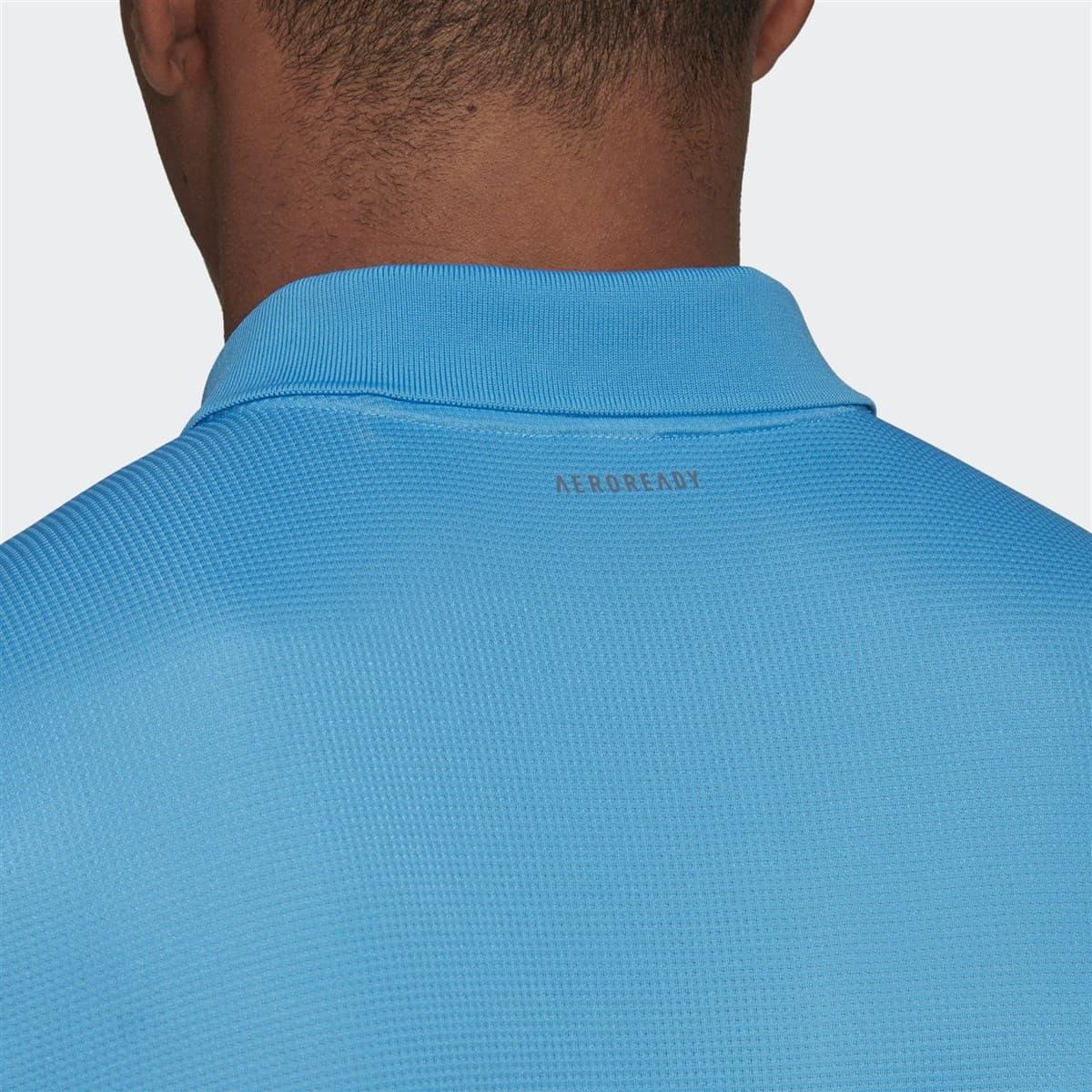 Club Solid Erkek Mavi Polo Tişört