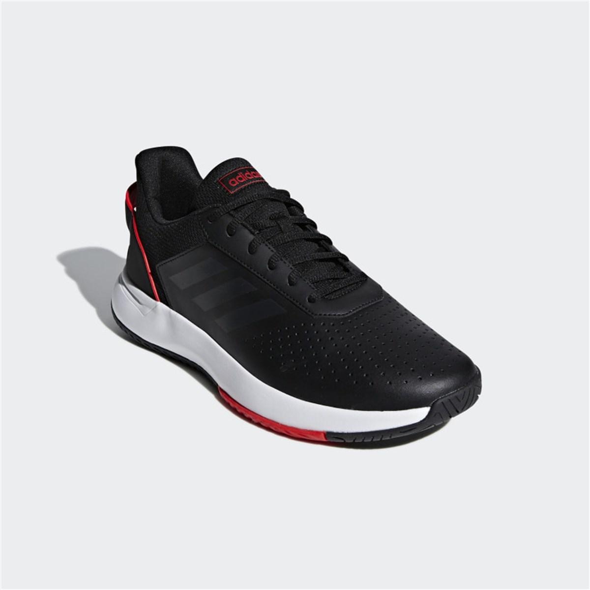 Courtsmash Erkek Siyah Tenis Ayakkabısı
