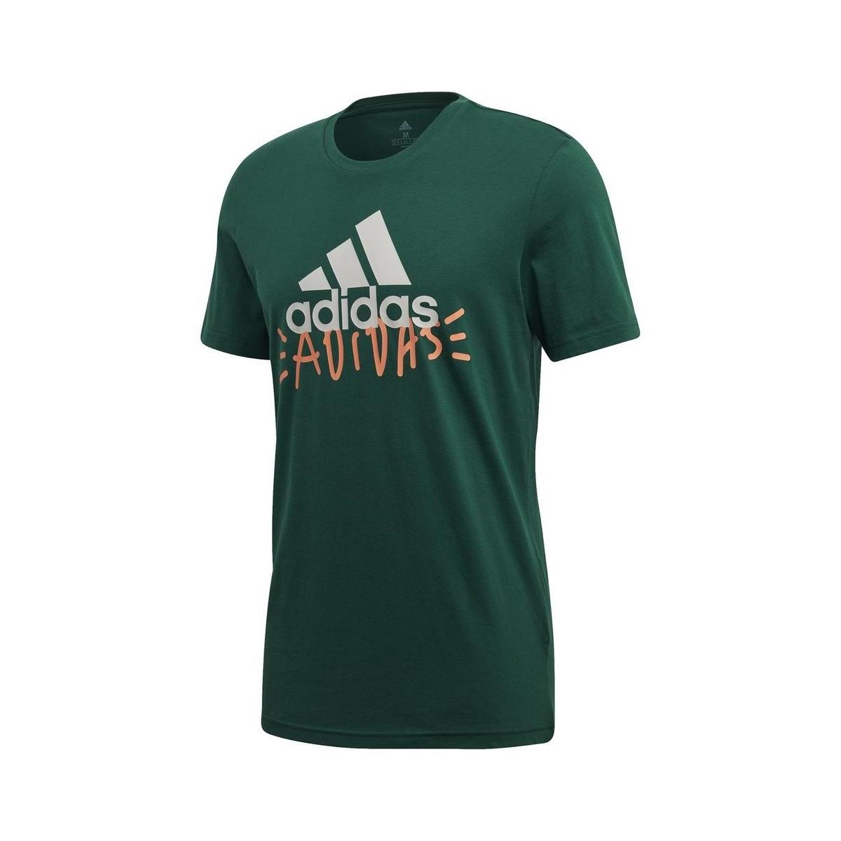 Doodle Basic Badge OF Sport Yeşil Tişört (FN1733)