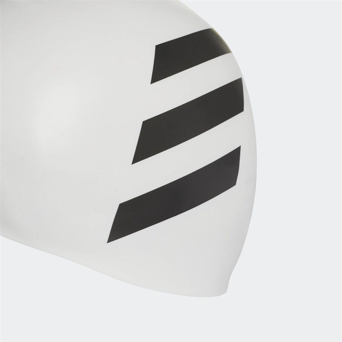 adidas 3 Bantlı Beyaz Yüzücü Bonesi (FJ4968)