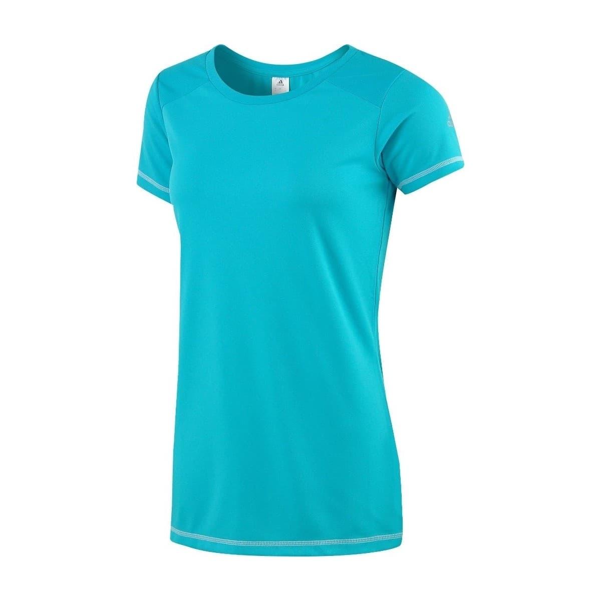 adidas Fleur Kadın Mavi Spor Tişört (AJ3920)