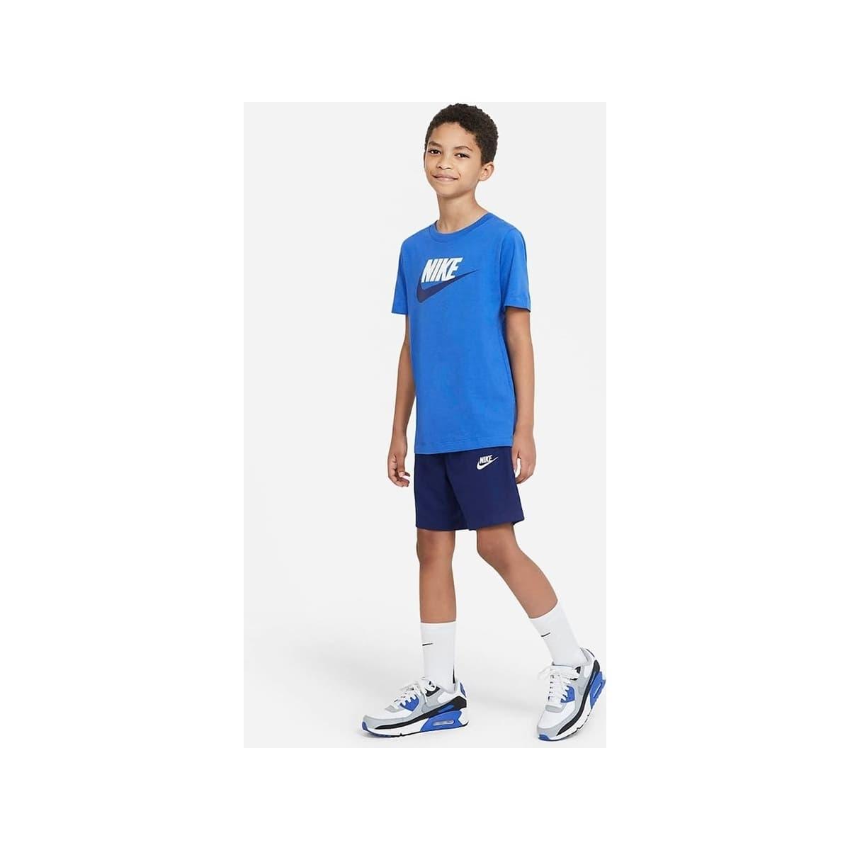 Futura İcon Çocuk Mavi Spor Tişört (AR5252-482)