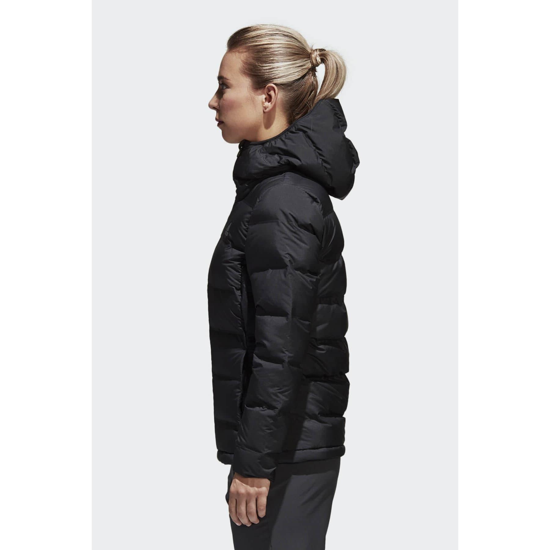 adidas Helionic Kadın Siyah Dolgulu Mont