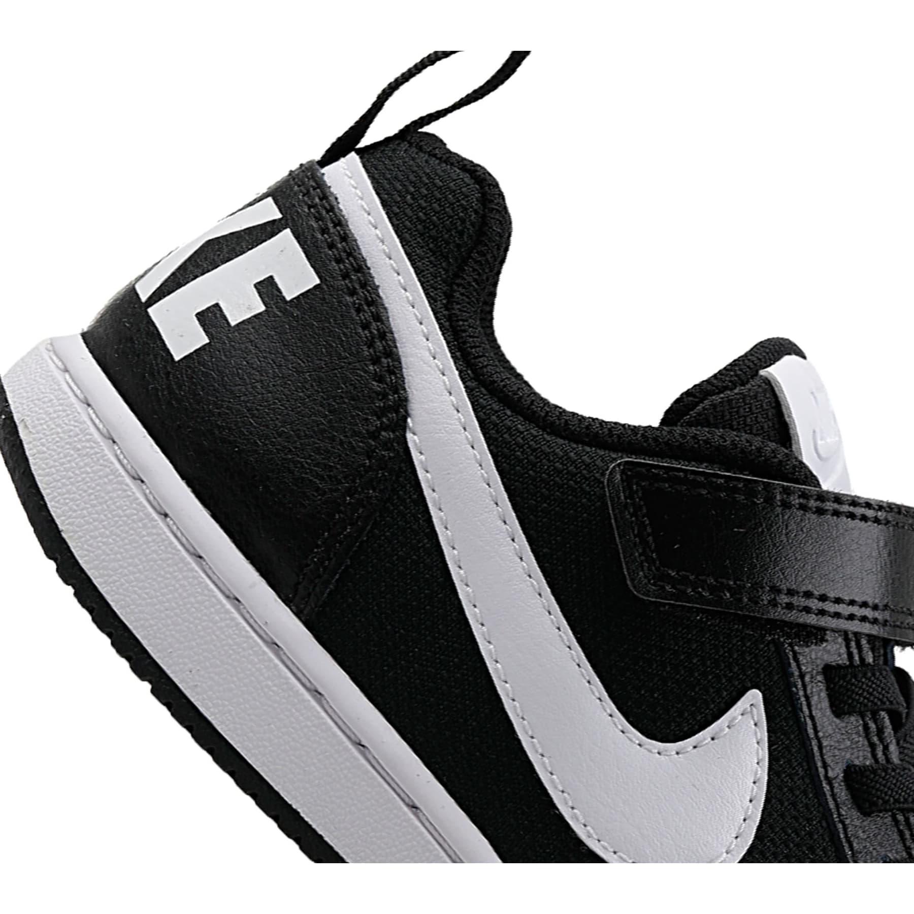 Court Borough Low Pe Çocuk Siyah Spor Ayakkabı