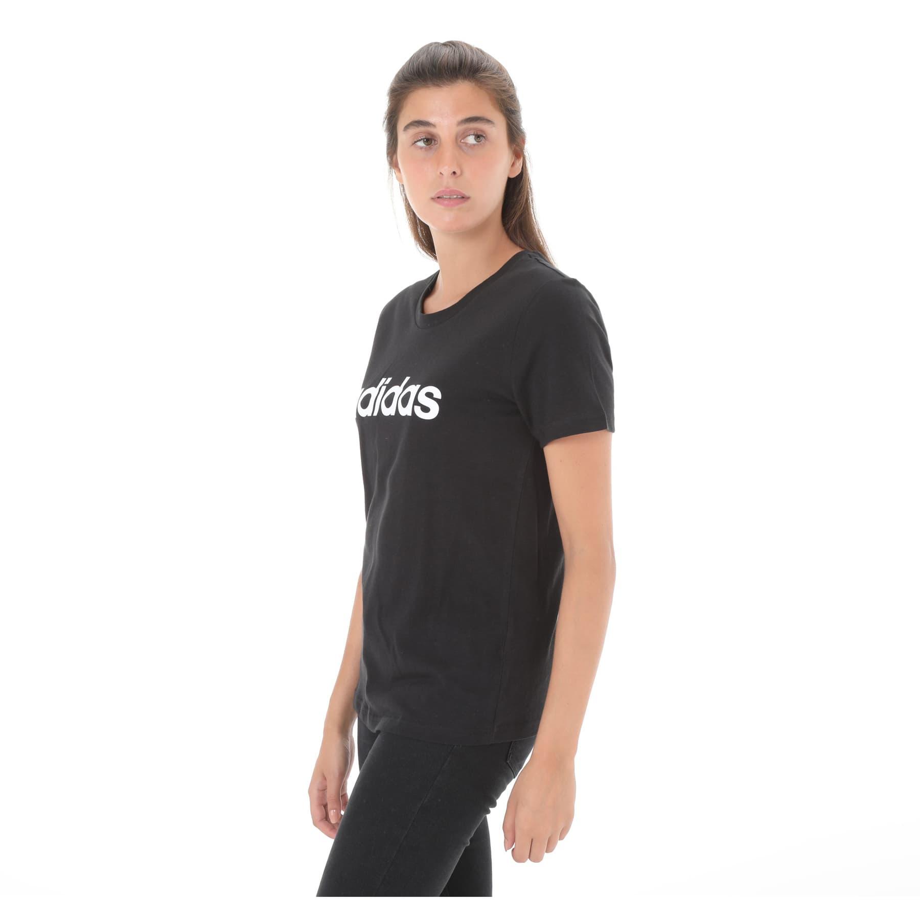Essentials Linear Kadın Siyah Tişört