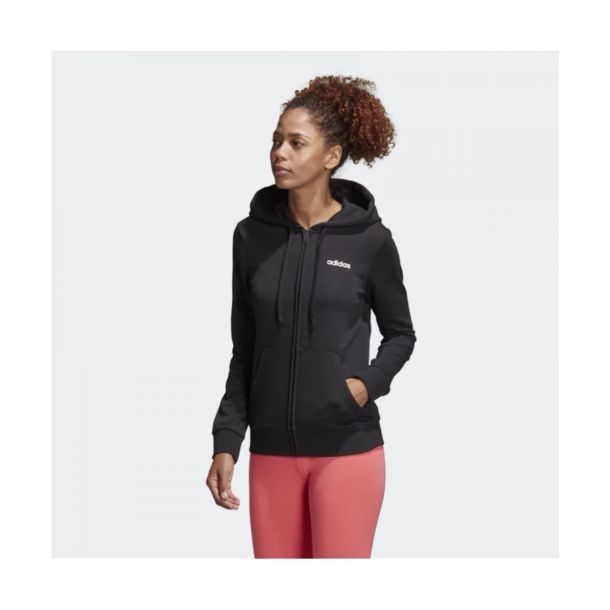 Essentials Linear Kadın Siyah Sweatshirt
