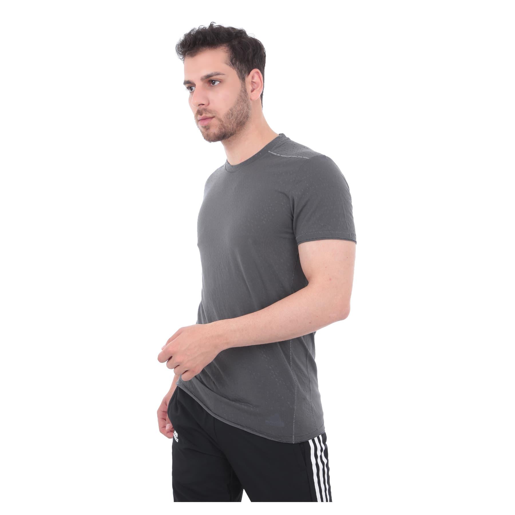 Adapt to Chaos Erkek Gri Koşu Tişörtü
