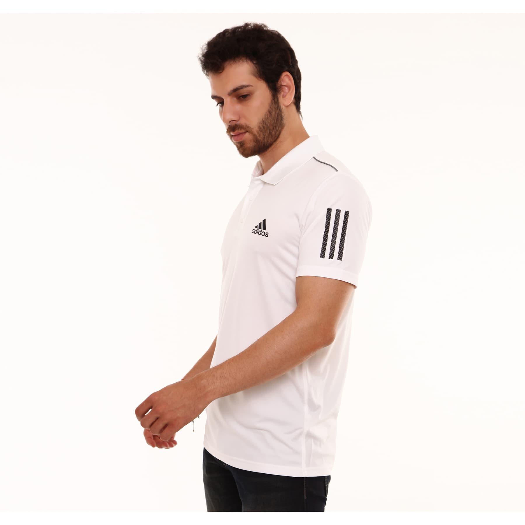 3 Bantlı Beyaz Erkek Club Polo Tişört