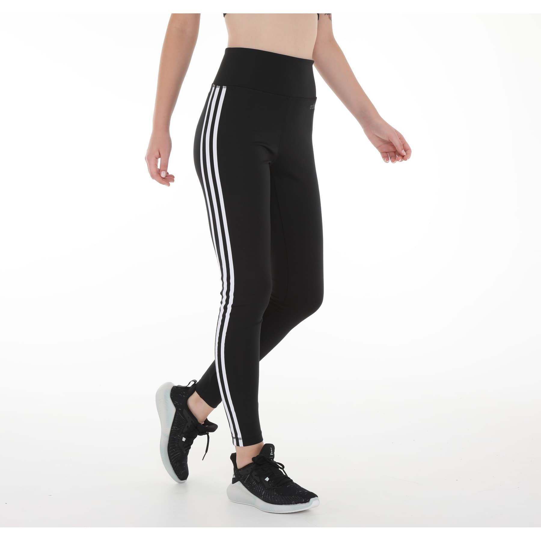 Design 2 Move 3 Bantlı Yüksek Belli Kadın Siyah Uzun Tayt
