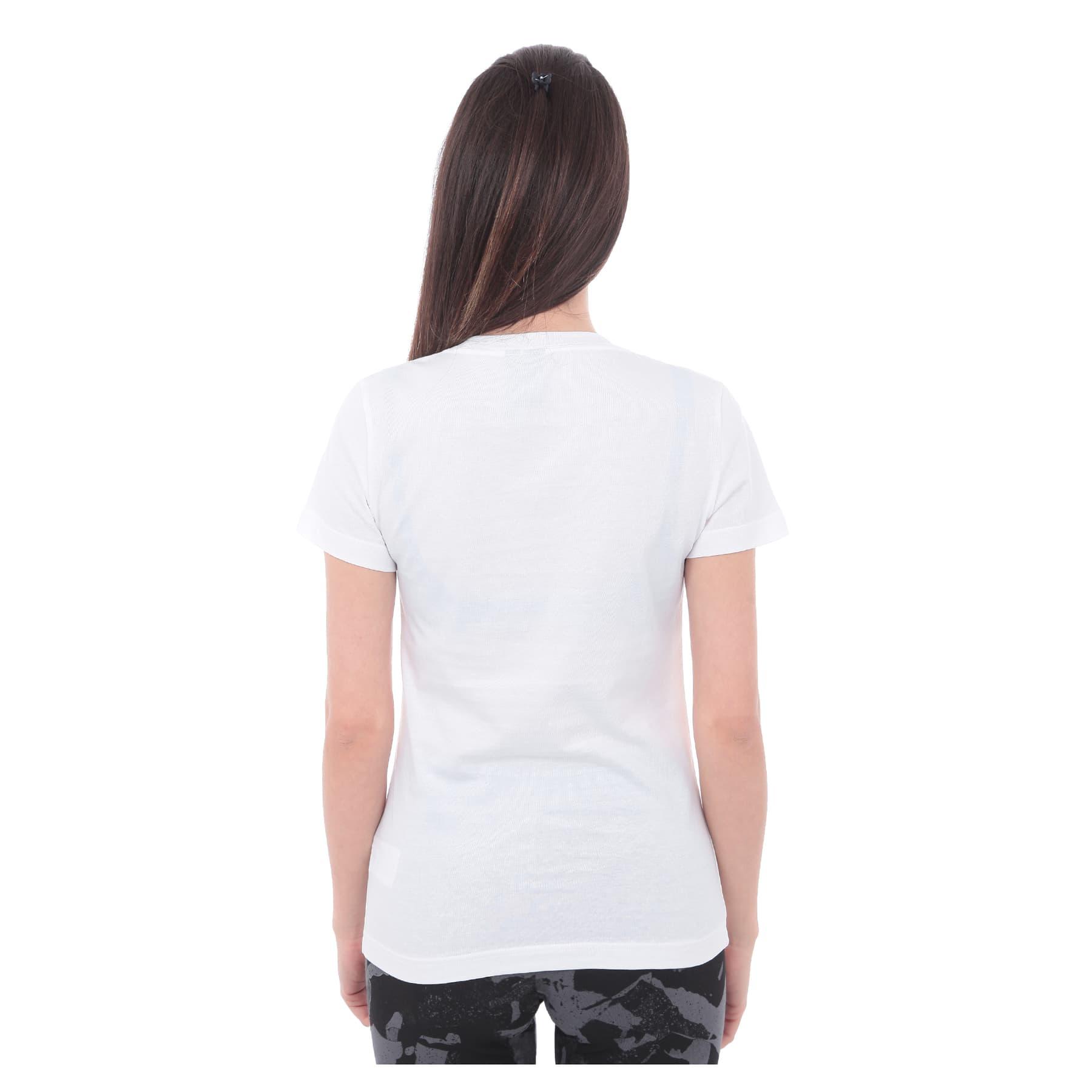 Badge of Sport Foil Kadın Beyaz Tişört