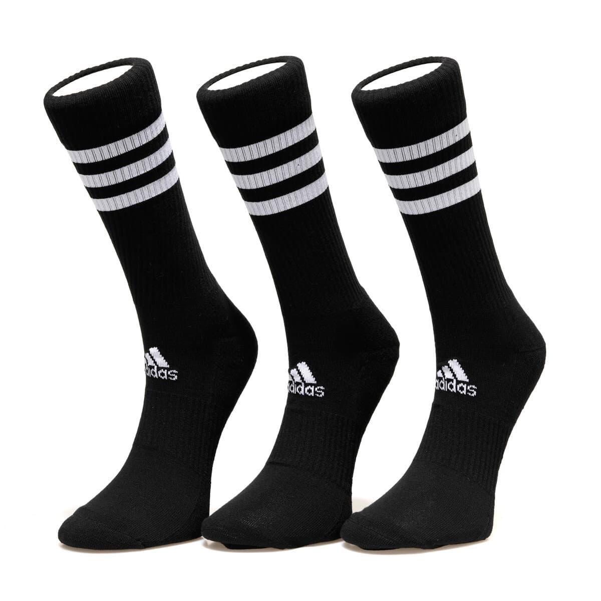 3 Bantlı Yastıklamalı 3 Çift Siyah Çorap (DZ9347)