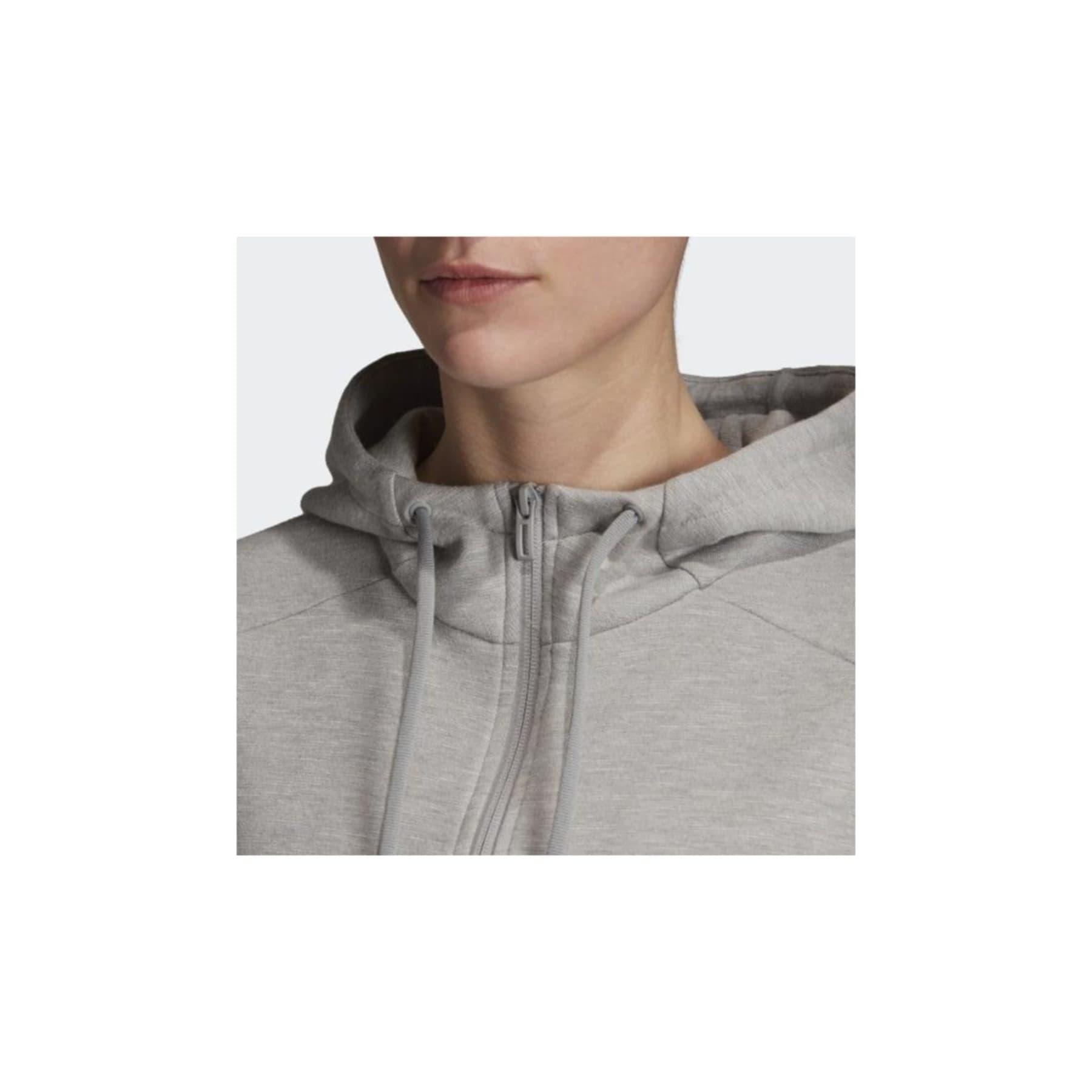 ID Melange Kapüşonlu Kadın Gri Sweatshirt