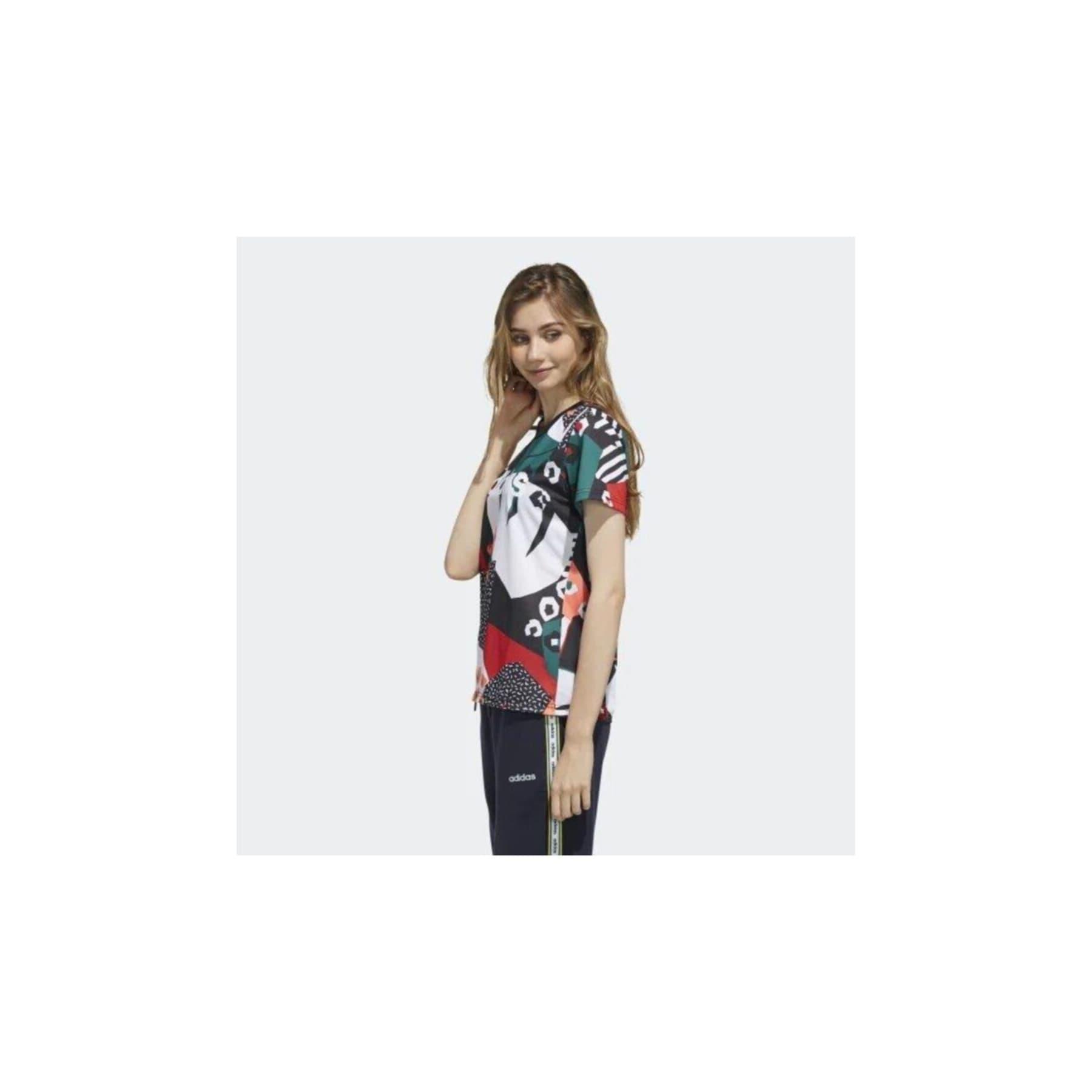 adidas FARM Rio Çok Renkli Kadın Tişört (FM6008)