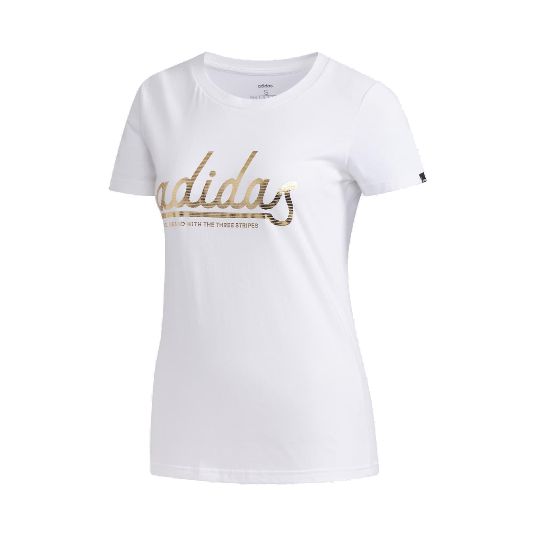 adidas Colgt Foil Kadın Beyaz Tişört (FM6174)