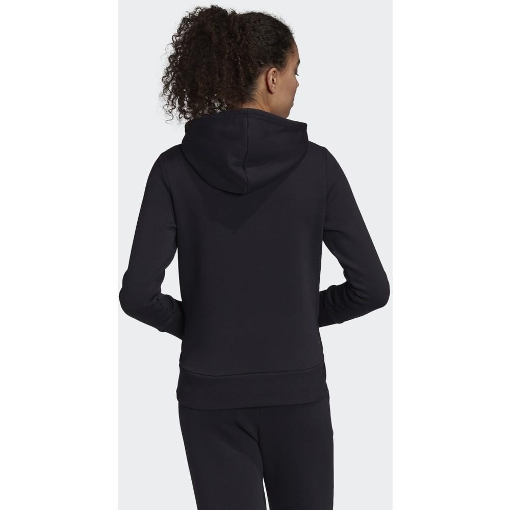 Badge of Sport Pullover Siyah Polar Kapşonlu Sweatshirt