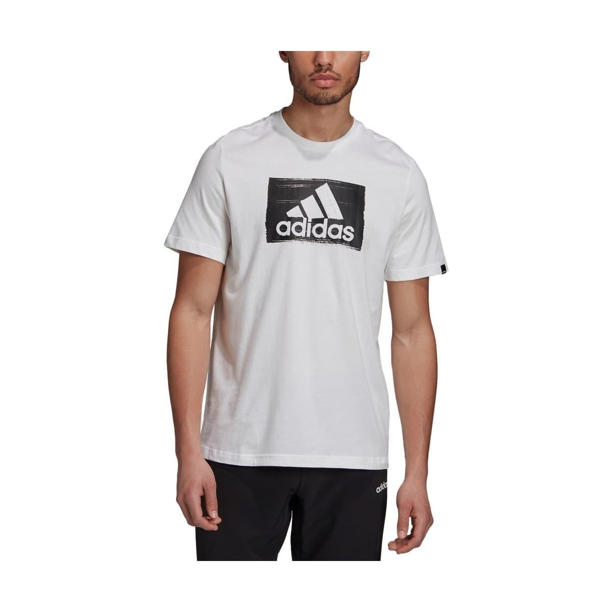 Brushstroke Erkek Beyaz Spor Tişört