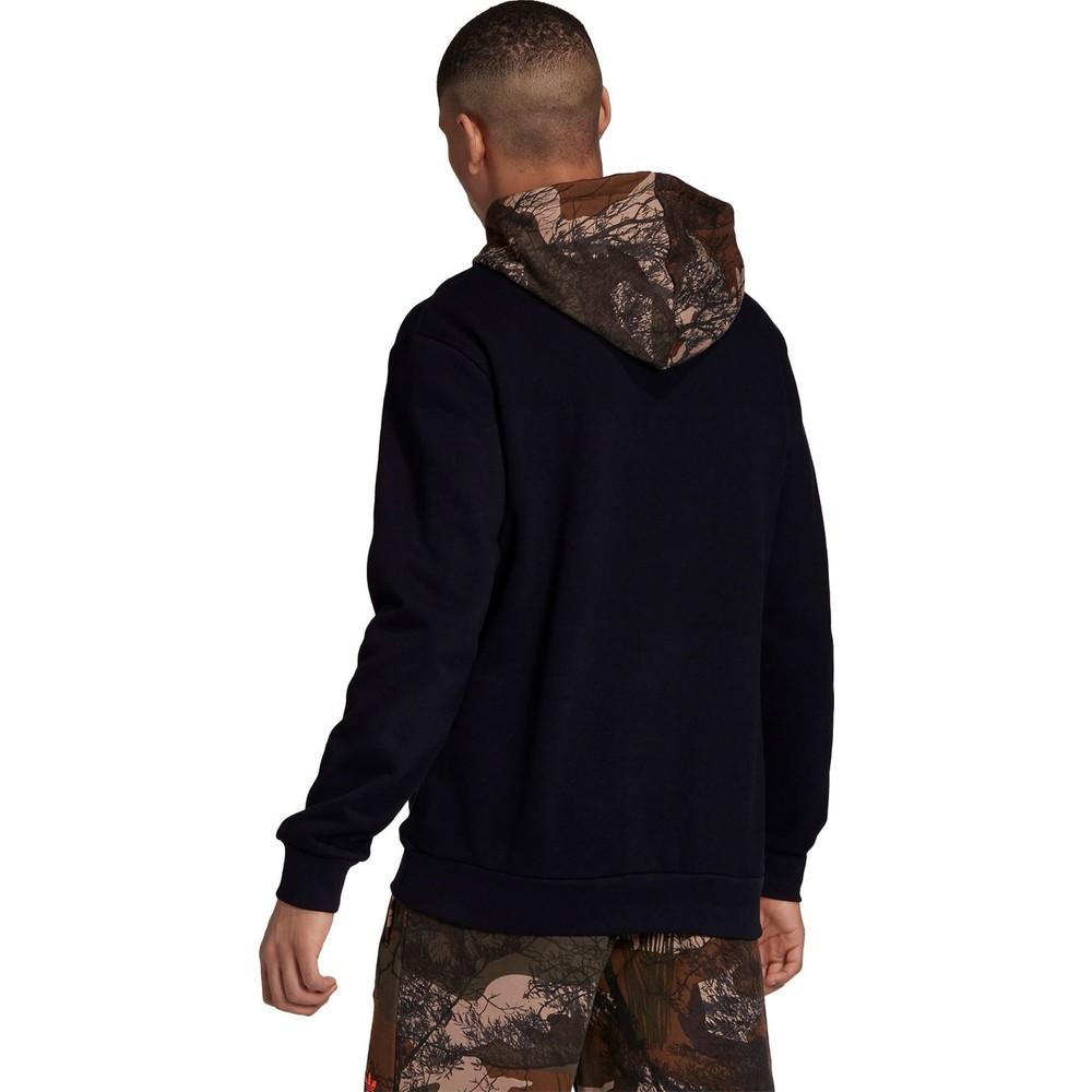 Camo Erkek Siyah Kapüşonlu Sweatshirt