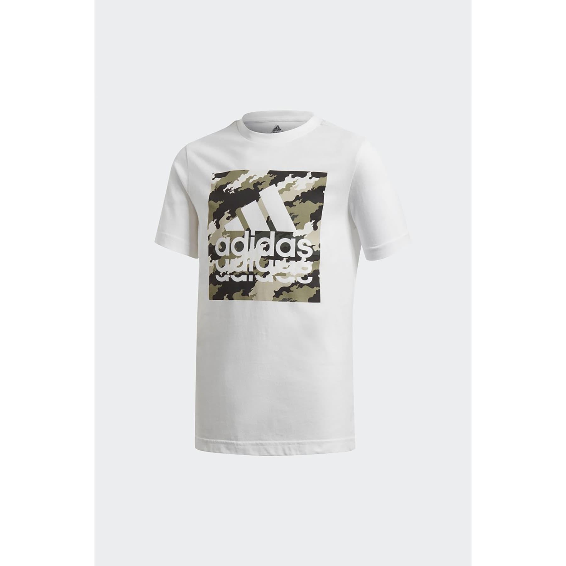 Badge Of Sport Çocuk Beyaz Tişört (GD9255)