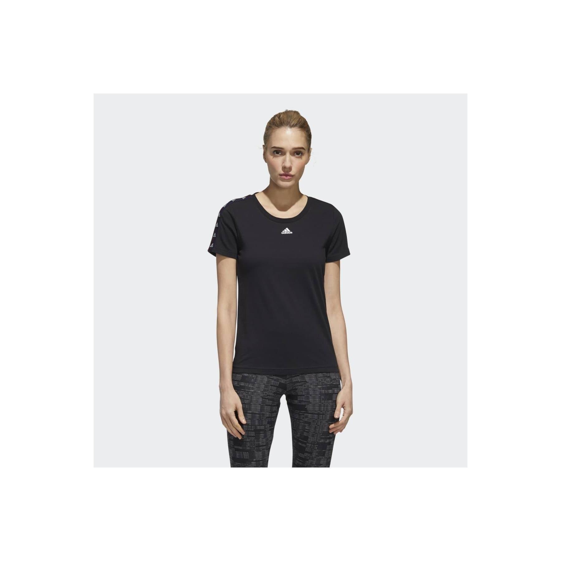 Essentials Tape Kadın Pamuklu Siyah Tişört