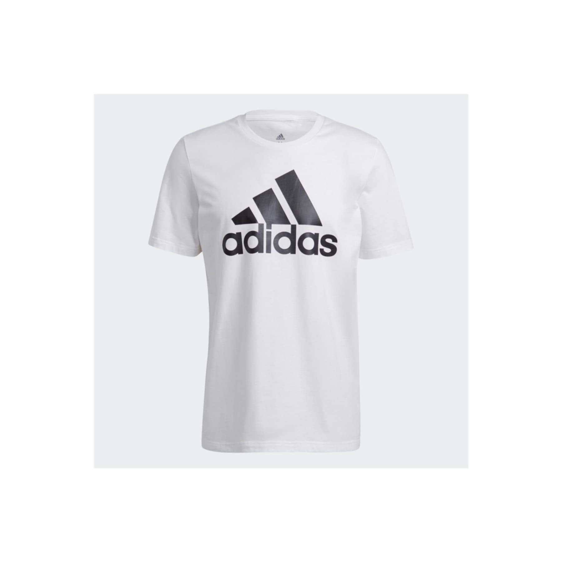 Essentials Big Logo Erkek Beyaz Tişört (GK9121)