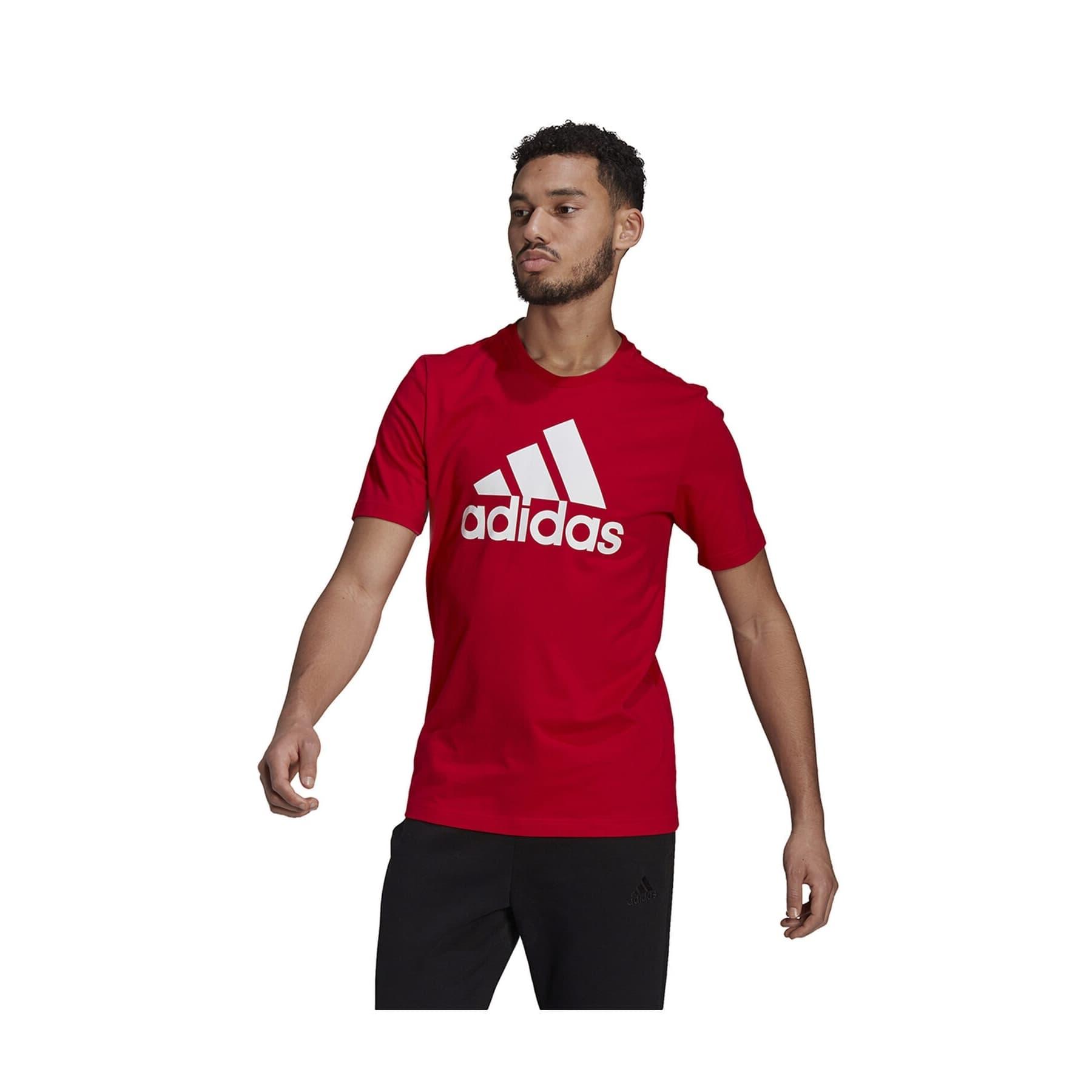 Essentials Big Logo Erkek Kırmızı Tişört (GK9124)