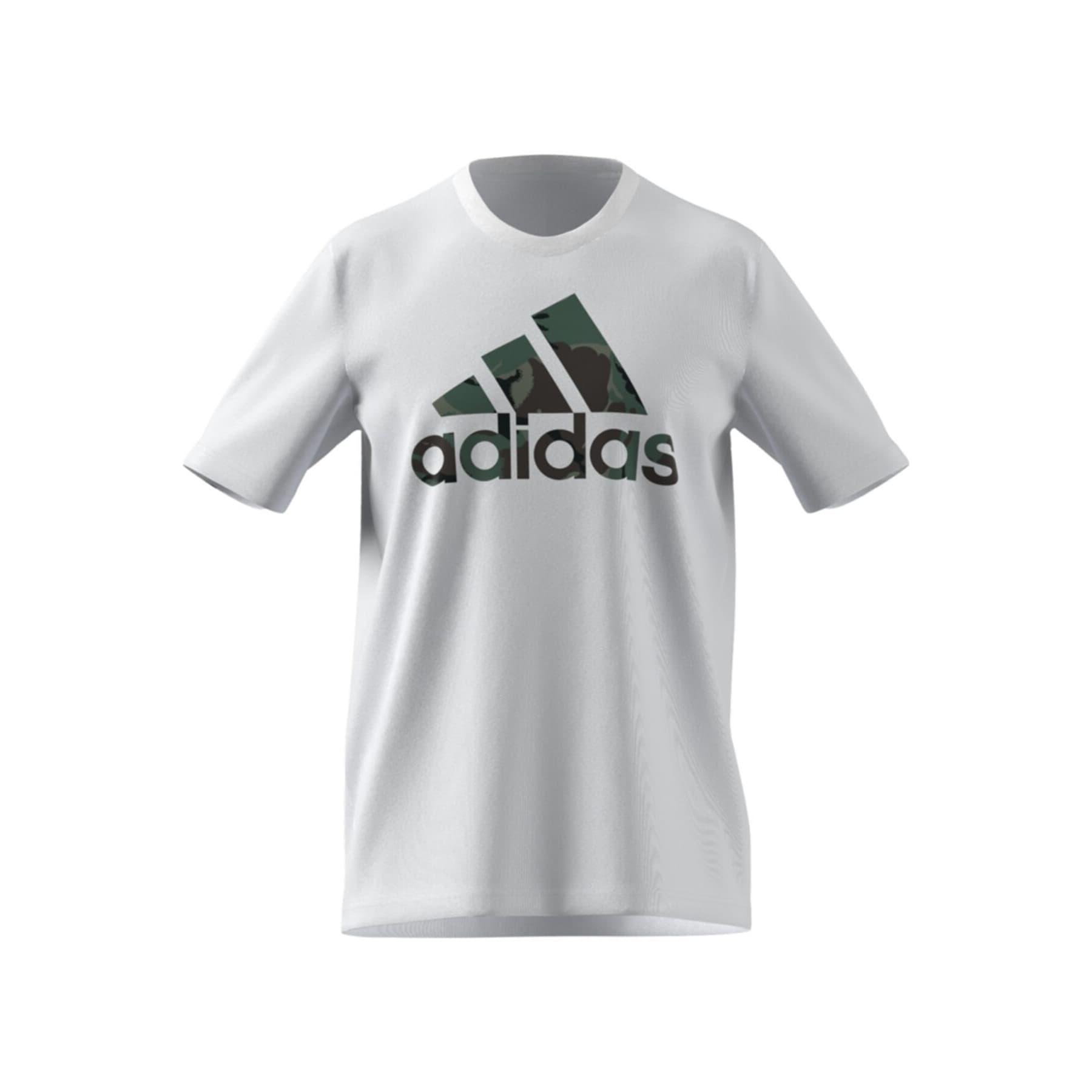 Essentials Camouflage Print Beyaz Tişört (GK9635)