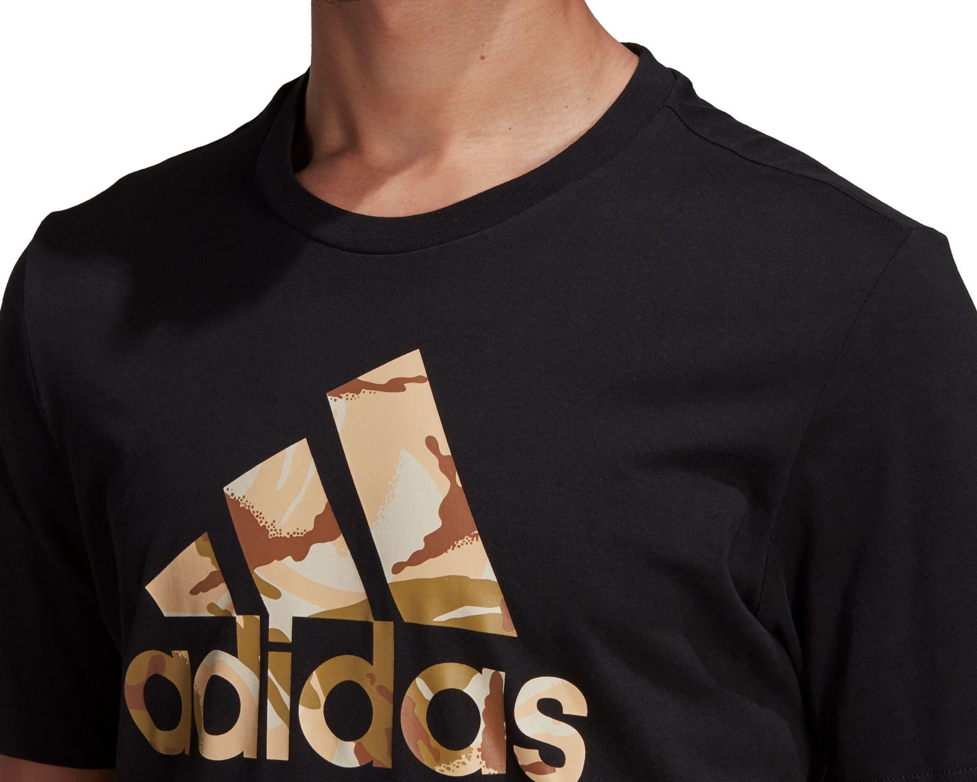 Essentials Camouflage Print Erkek Siyah Tişört (GK9636)