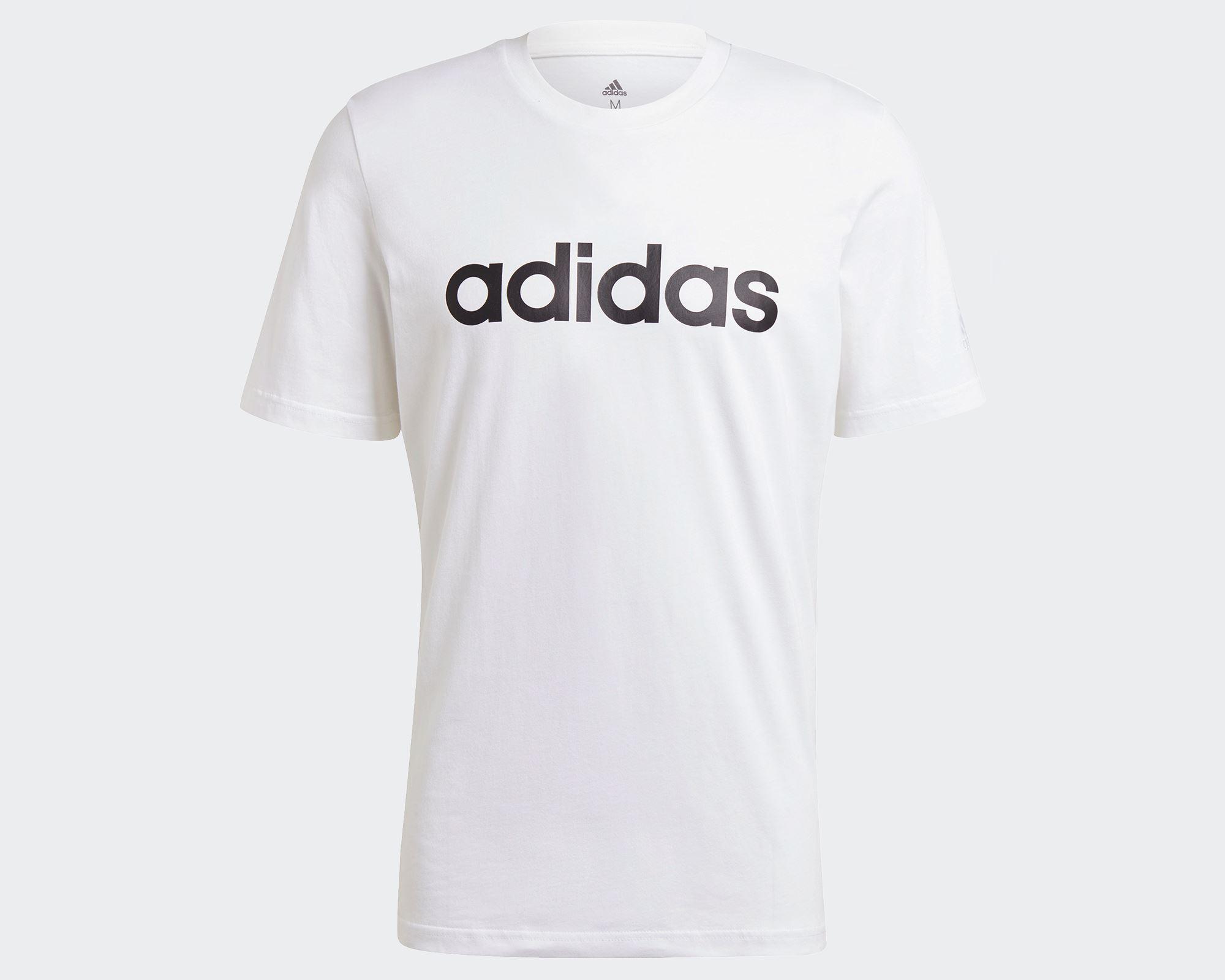 Essentials Embroidered Linear Logo Erkek Beyaz Tişört (GL0058)