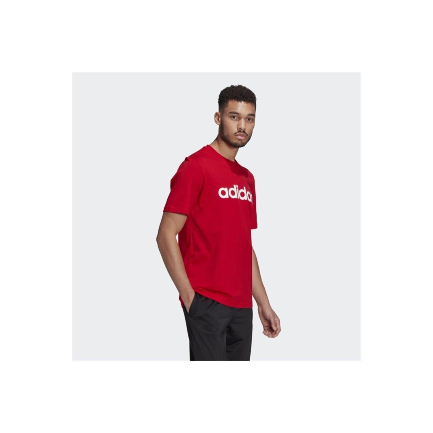 Essentials Embroidered Linear Logo Erkek Kırmızı Tişört (GL0061)