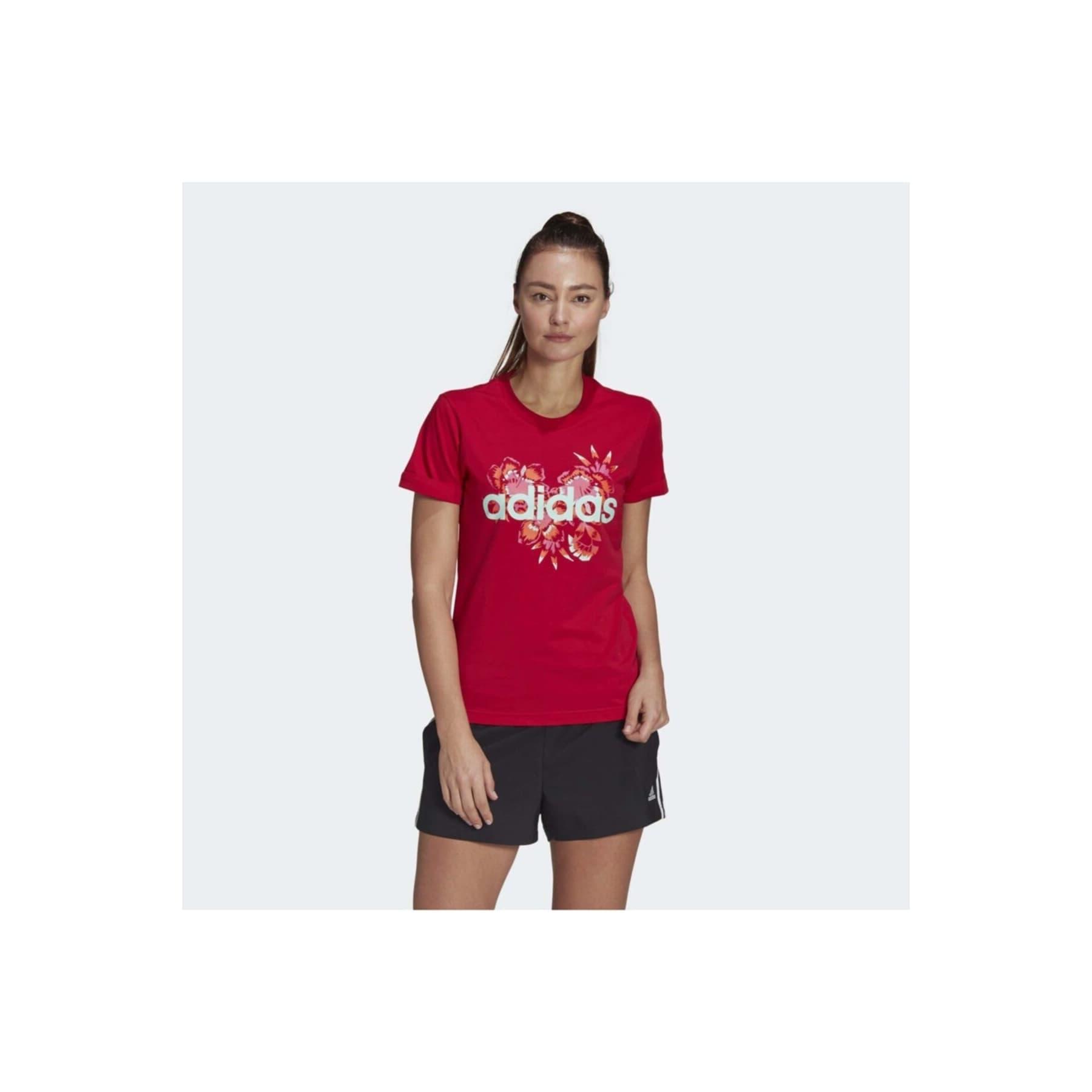 Farm Rio Floral Graphic Kadın Kırmızı Tişört (GL0833)