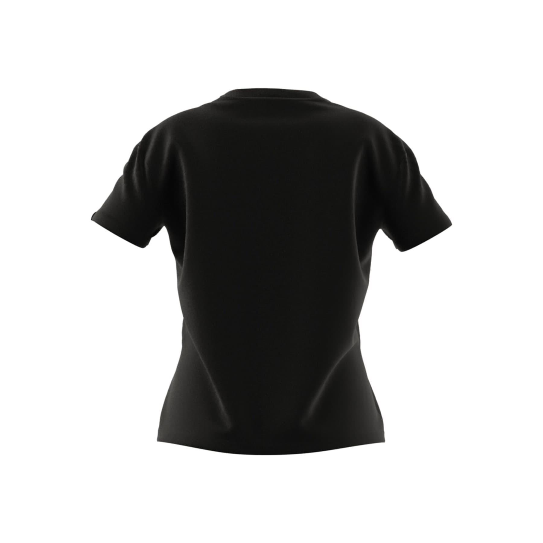 Big Logo Foil Graphic Kadın Siyah Tişört (GL0921)