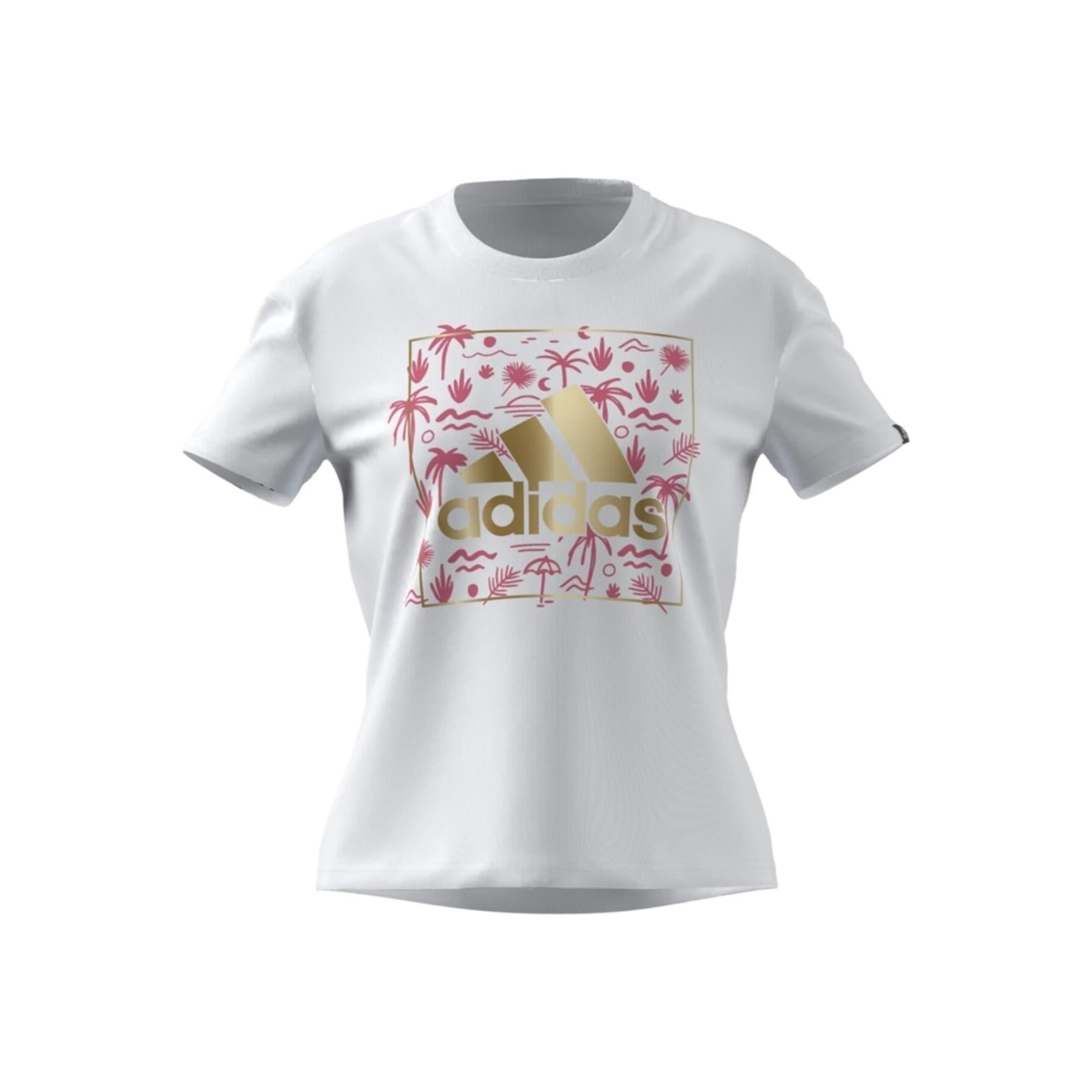 Big Logo Foil Graphic Kadın Beyaz Tişört (GL0992)