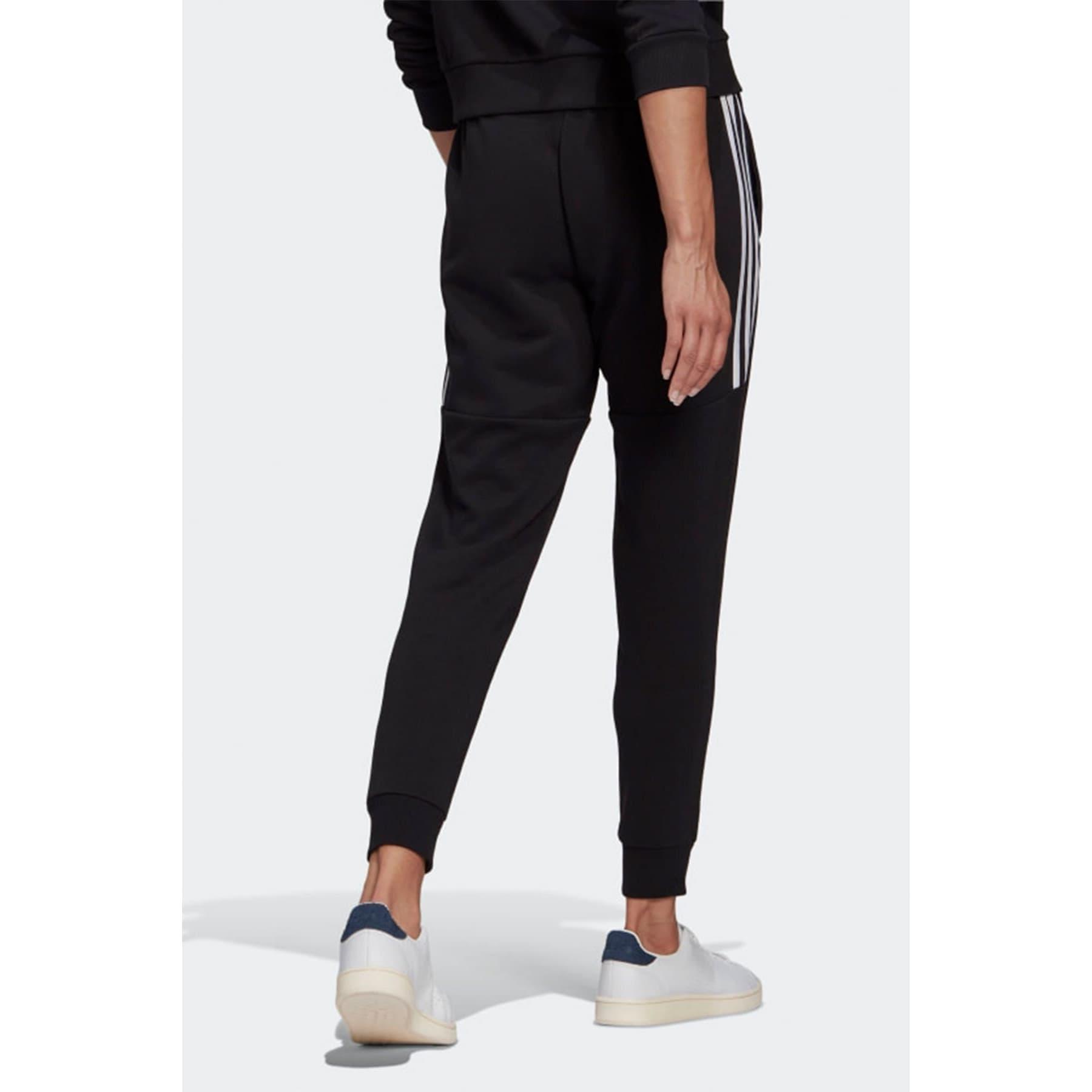 Essentials Cut 3-Stripes Kadın Siyah Eşofman Altı (GL1372)