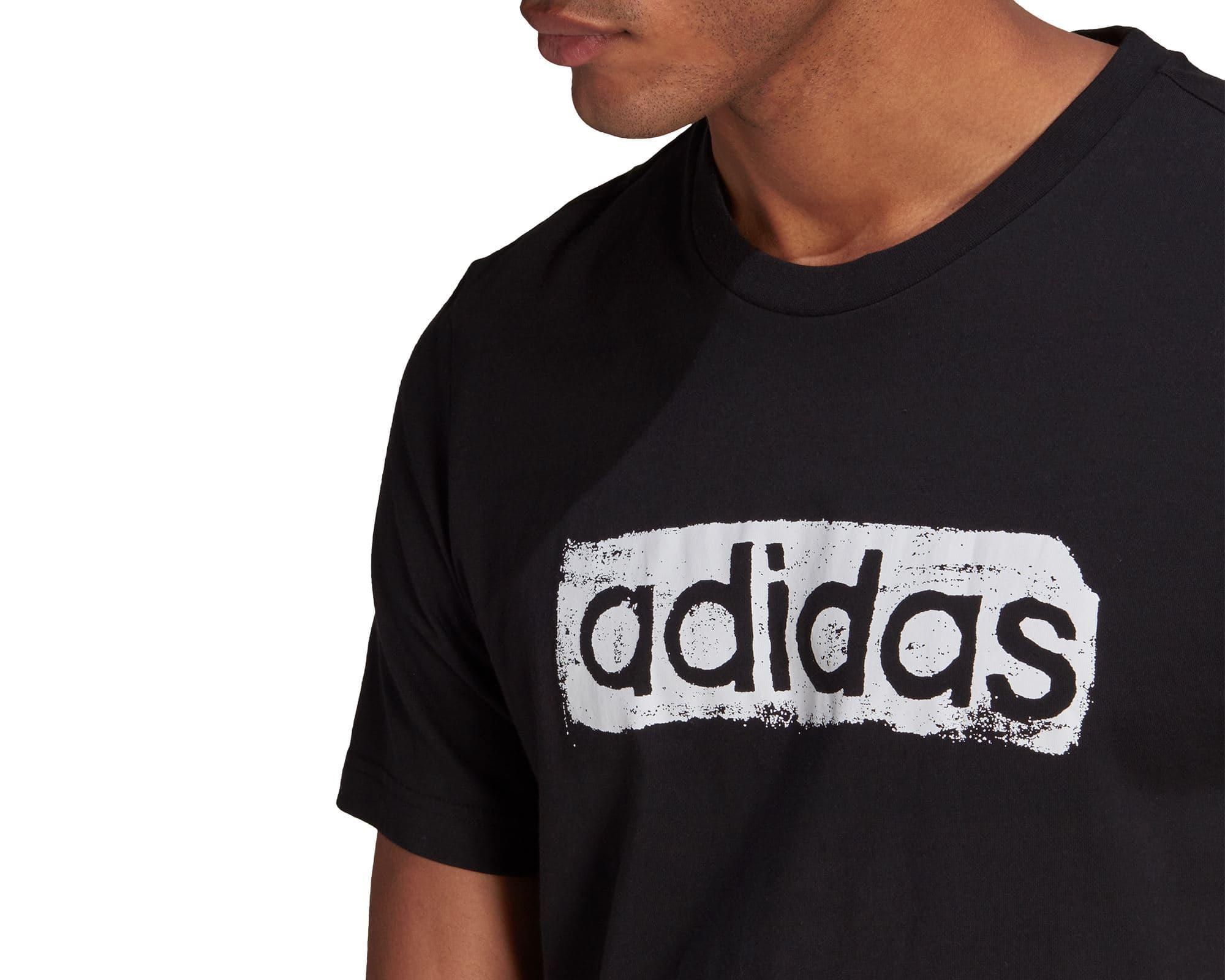 Camiseta Brushstroke Logo Erkek Siyah Tişört (GL3034)
