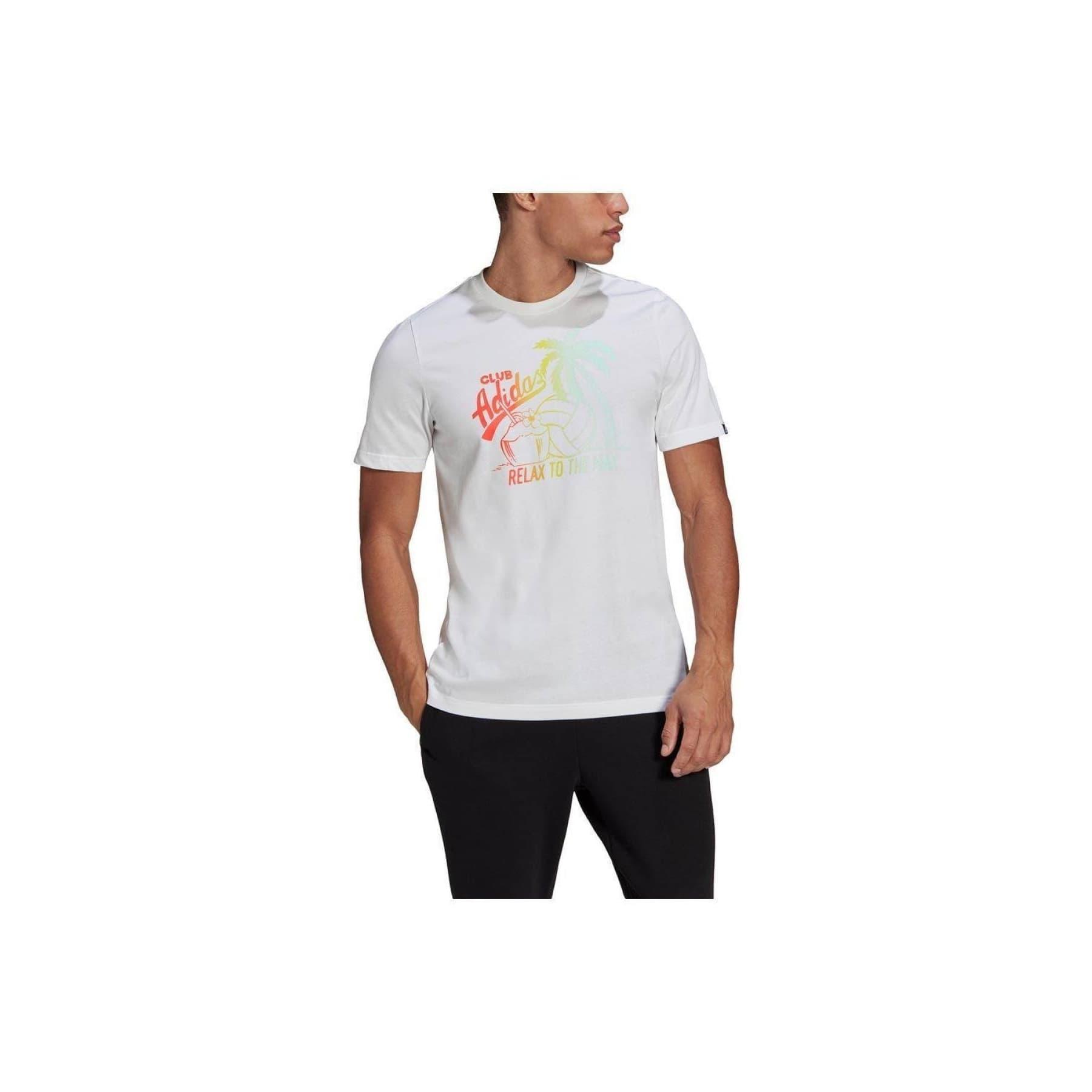 Aeroready Vacation Graphic Erkek Beyaz Tişört (GL3250)