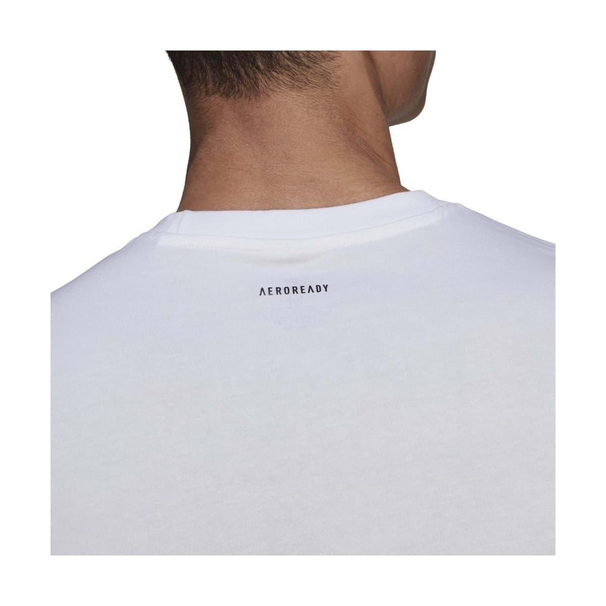 Aeroready Vacation Sunset Logo Erkek Beyaz Tişört (GL3251)