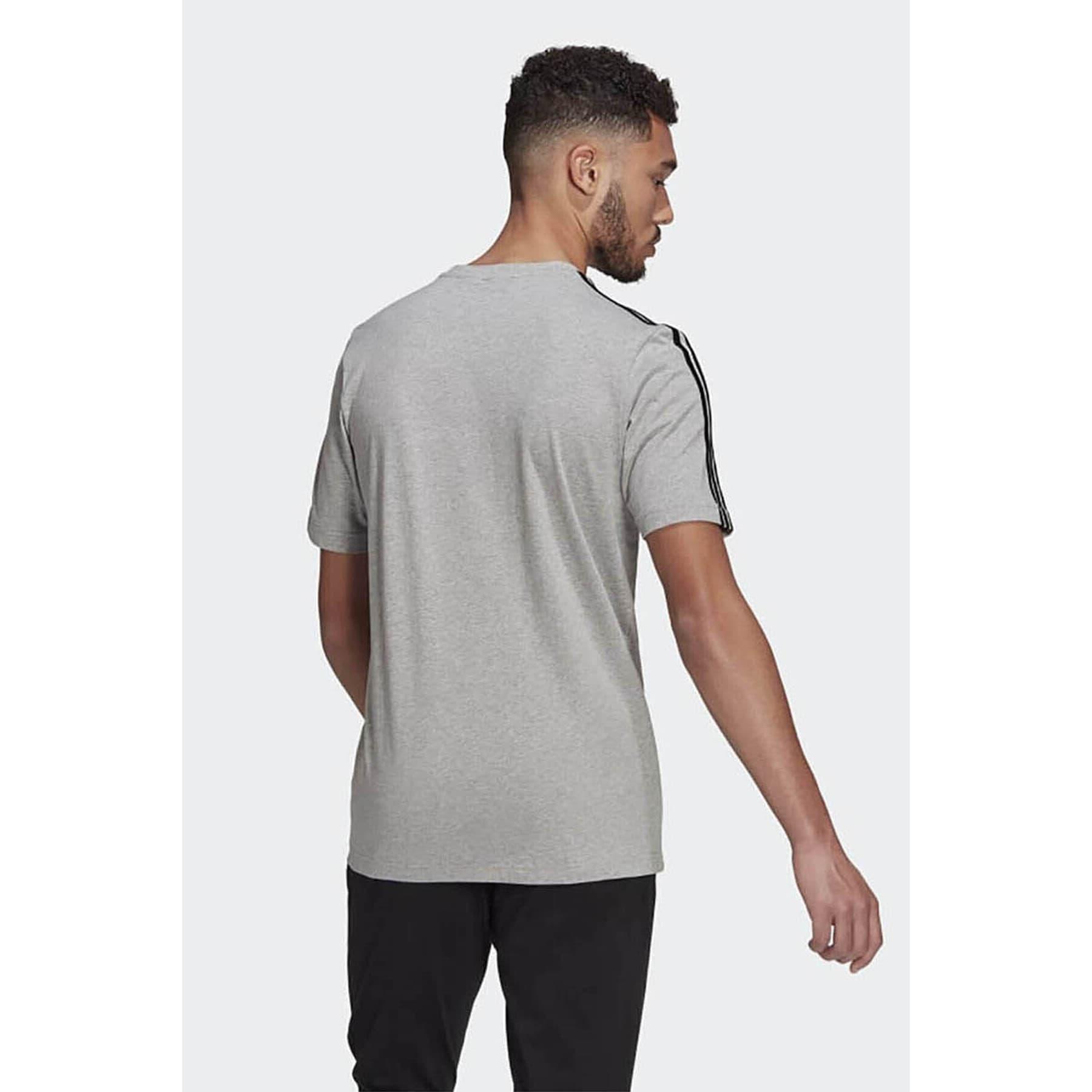 Essentials 3 Bantlı Erkek Gri Tişört (GL3735)