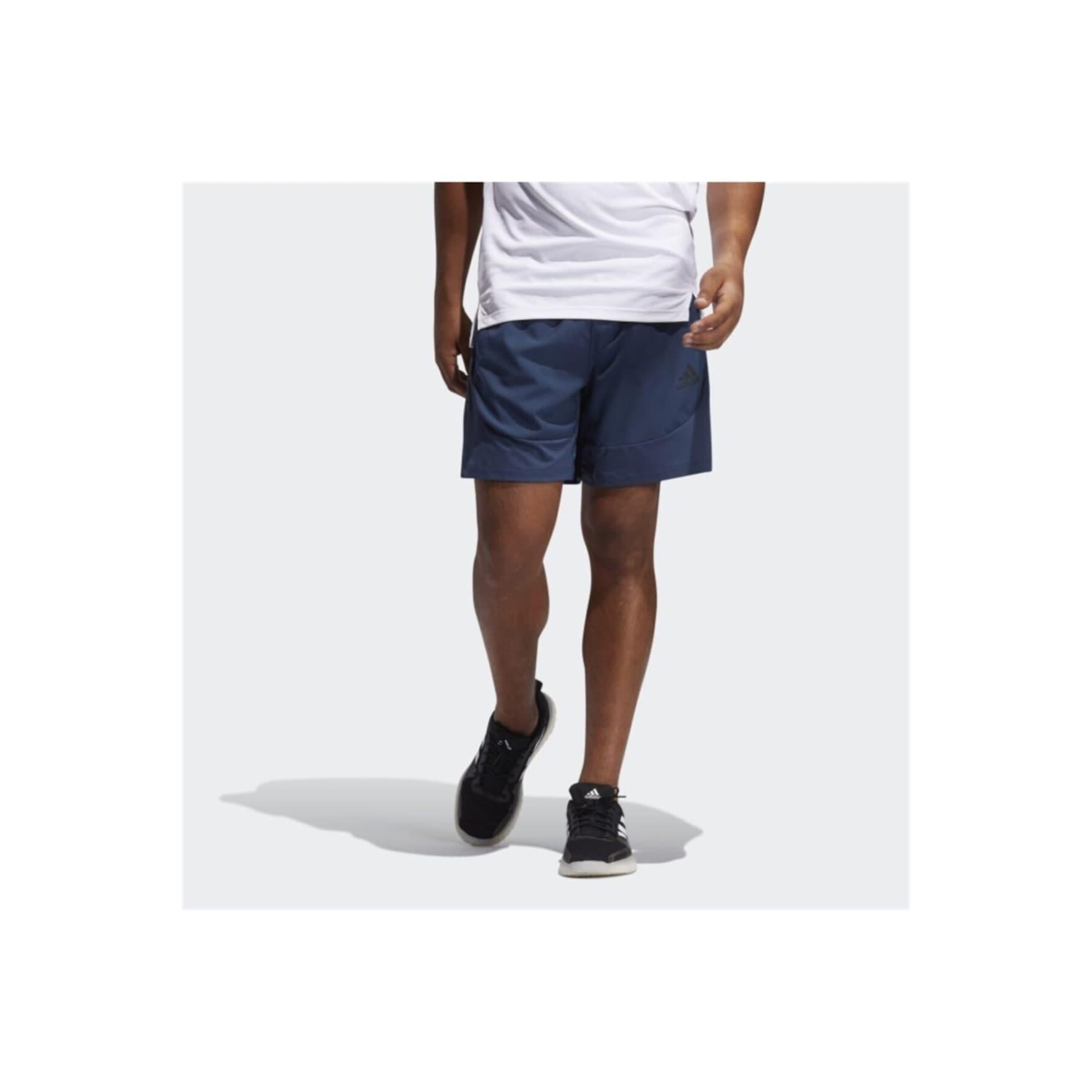 Aeroready 3 Bantlı Erkek Mavi Slim Şort (GM0333)