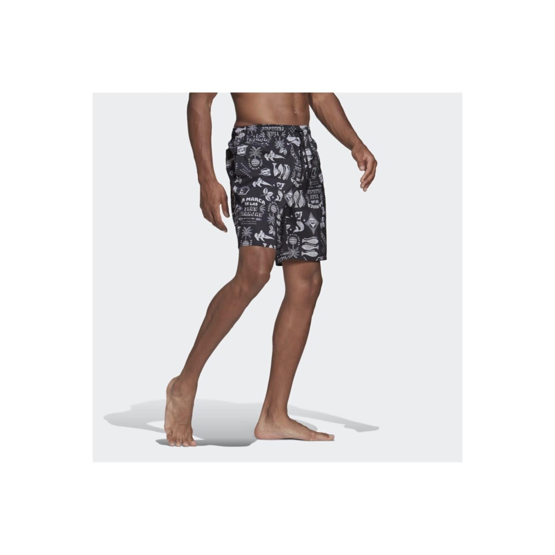 Classic-Length Graphic Erkek Siyah Şort Mayo (GM2226)