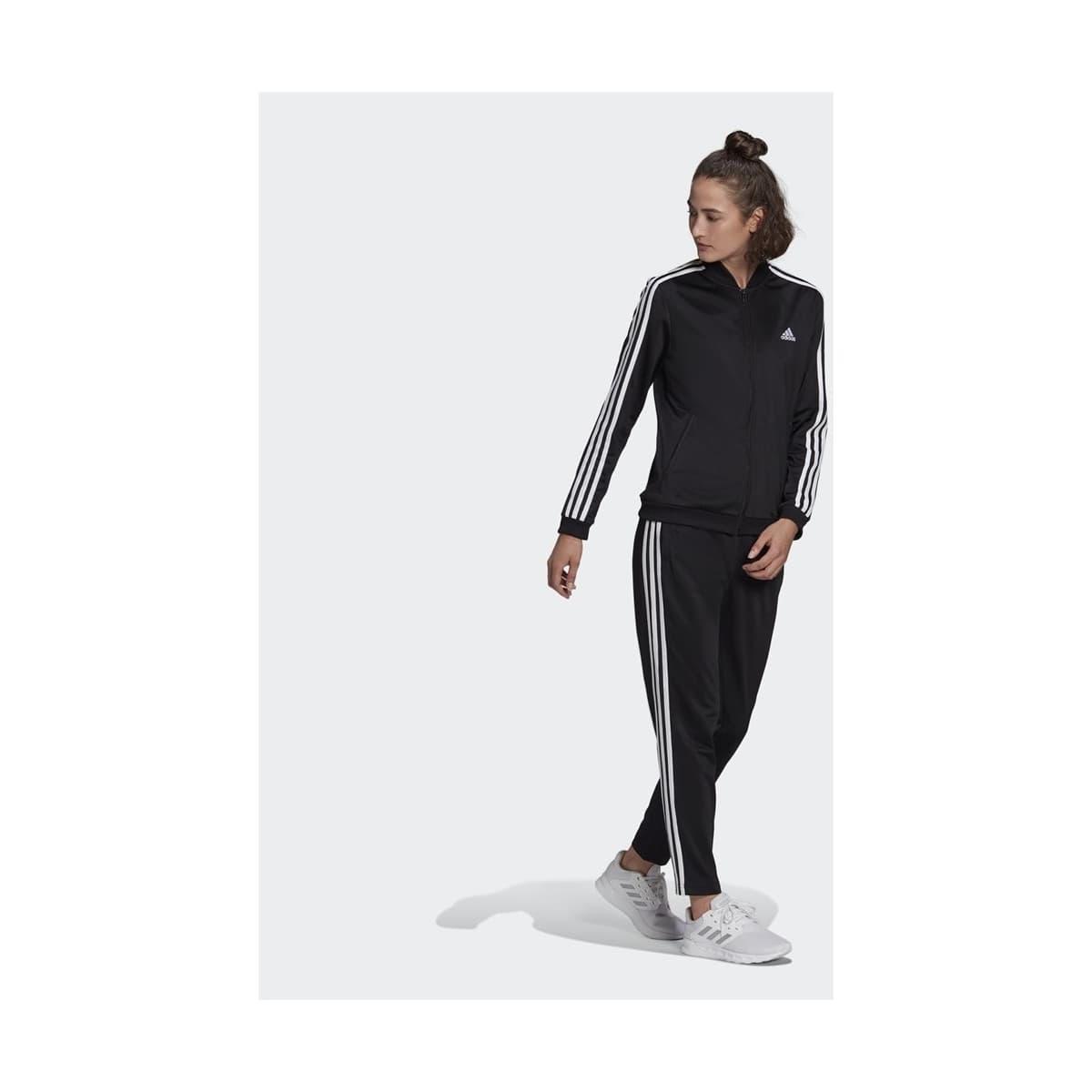 Essentials 3-Stripes Kadın Siyah Eşofman Takımı (GM5534)