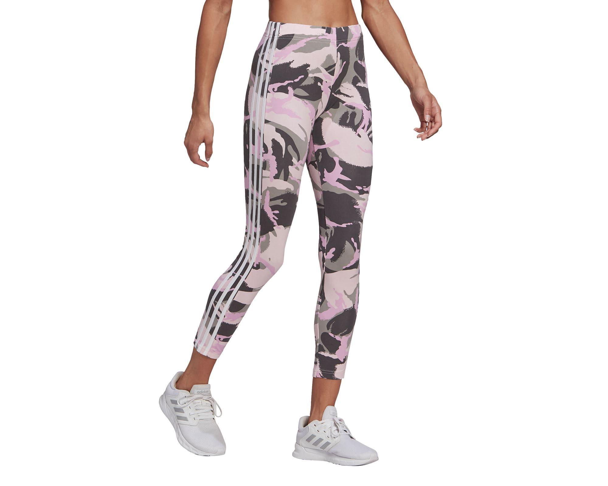 Essentials Camouflage 3 Bantlı Kadın Pembe Tayt (GM8740)