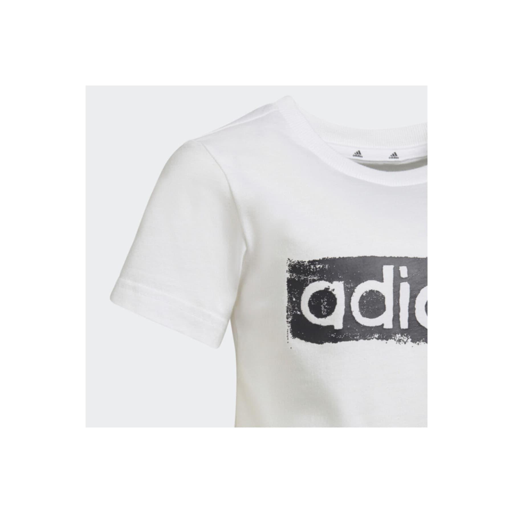 Graphic Logo Çocuk Beyaz Tişört (GN1472)