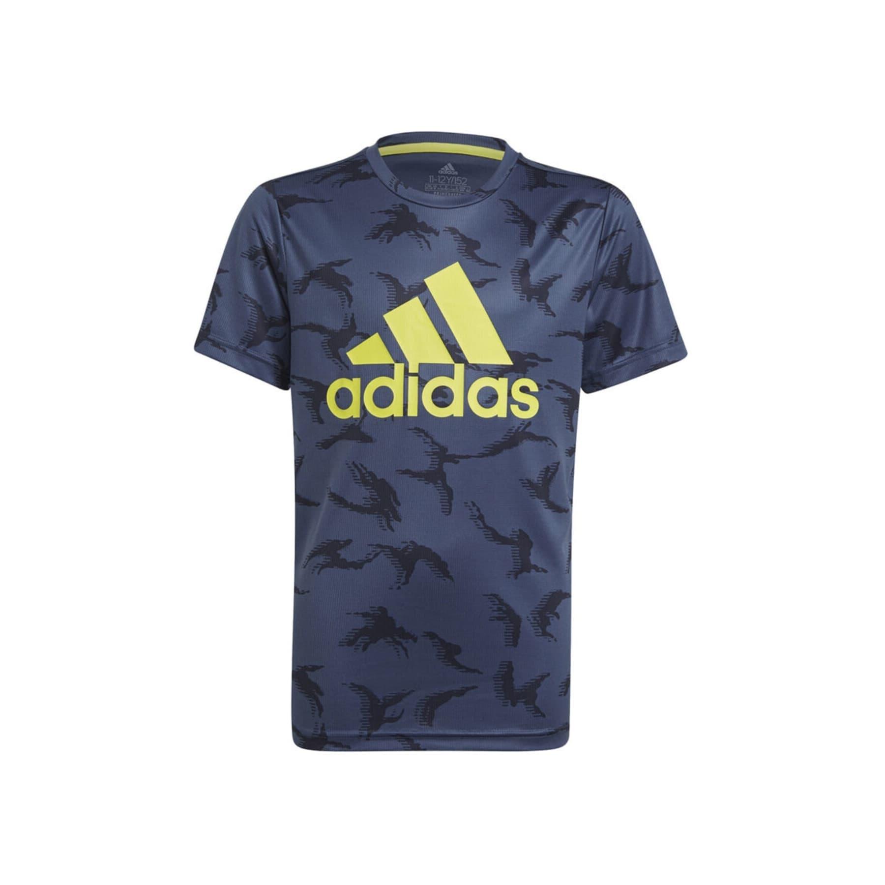 Designed To Move Camouflage Çocuk Mavi Tişört (GN1487)