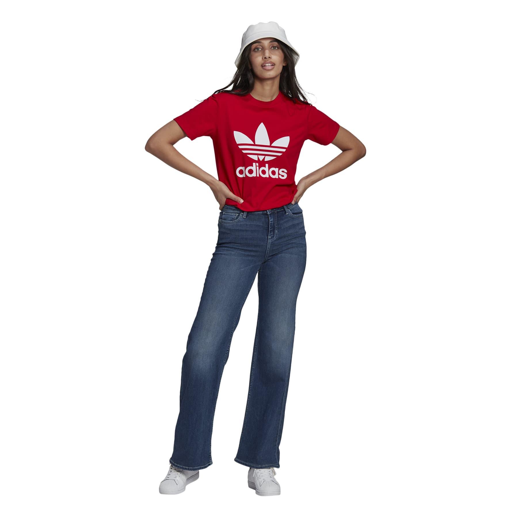 Adicolor Classics Trefoil Kadın Kırmızı Tişört (GN2902)