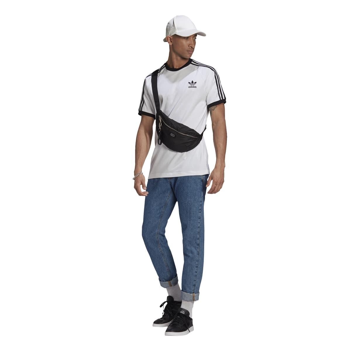 Adicolor Classics 3 Bantlı Erkek Beyaz Tişört (GN3494)