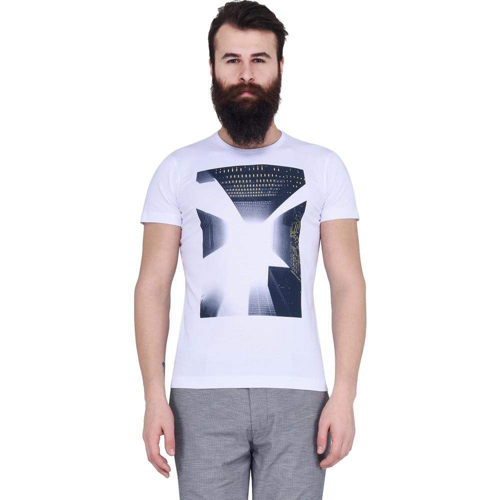 Bablon Erkek Siyah Baskılı Tişört