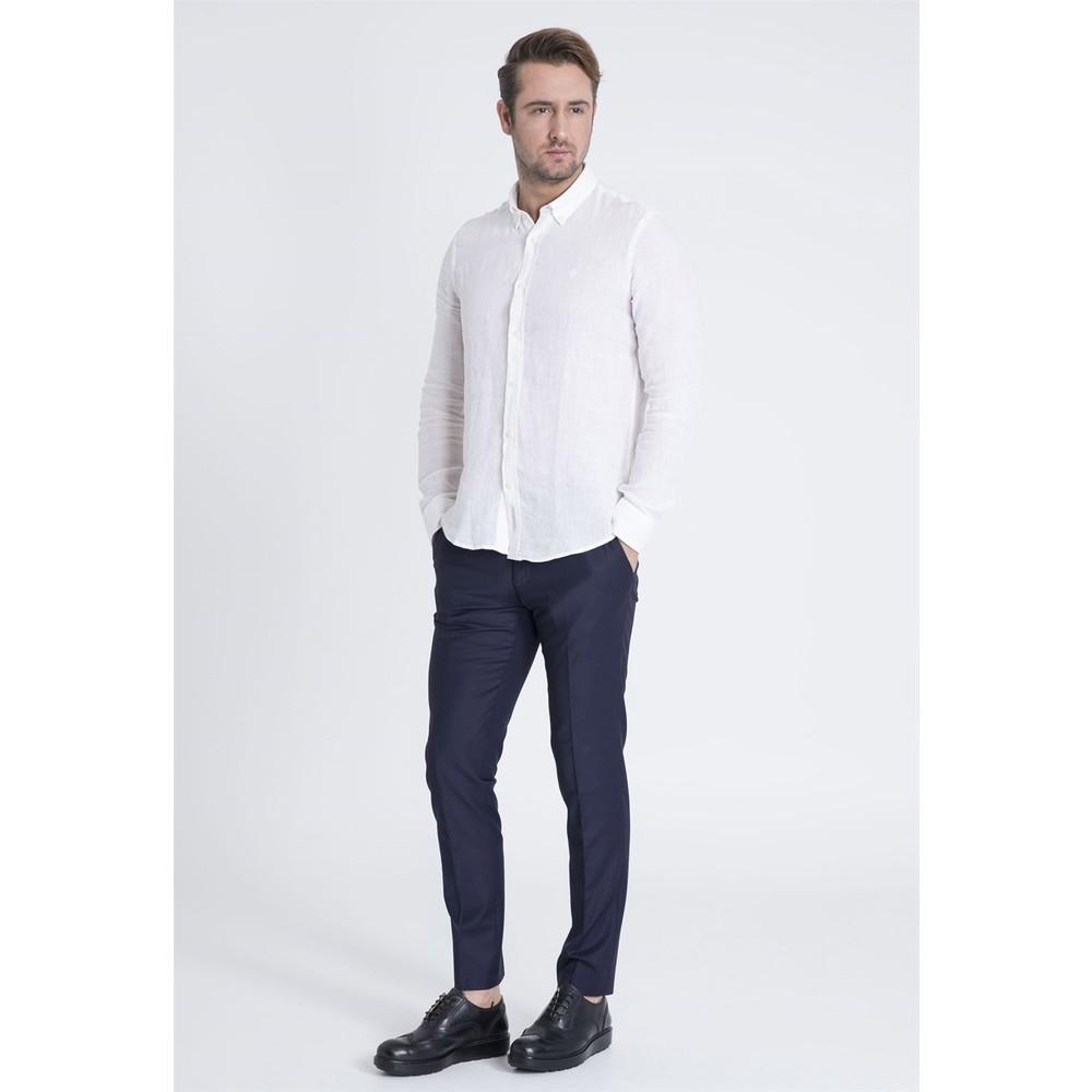 Lufian Erkek Beyaz Yazlık Gömlek