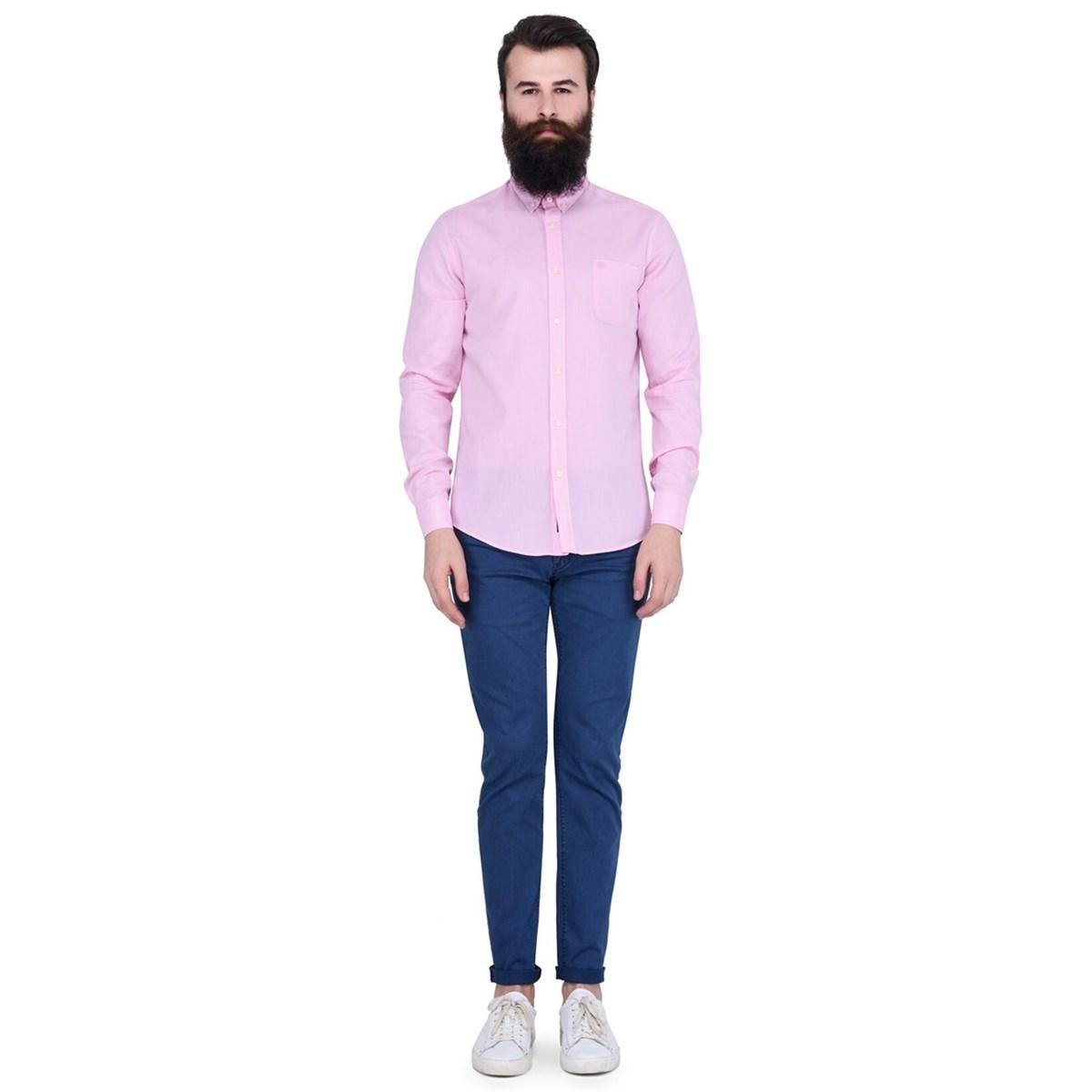 Blais Erkek Pembe Günlük Gömlek