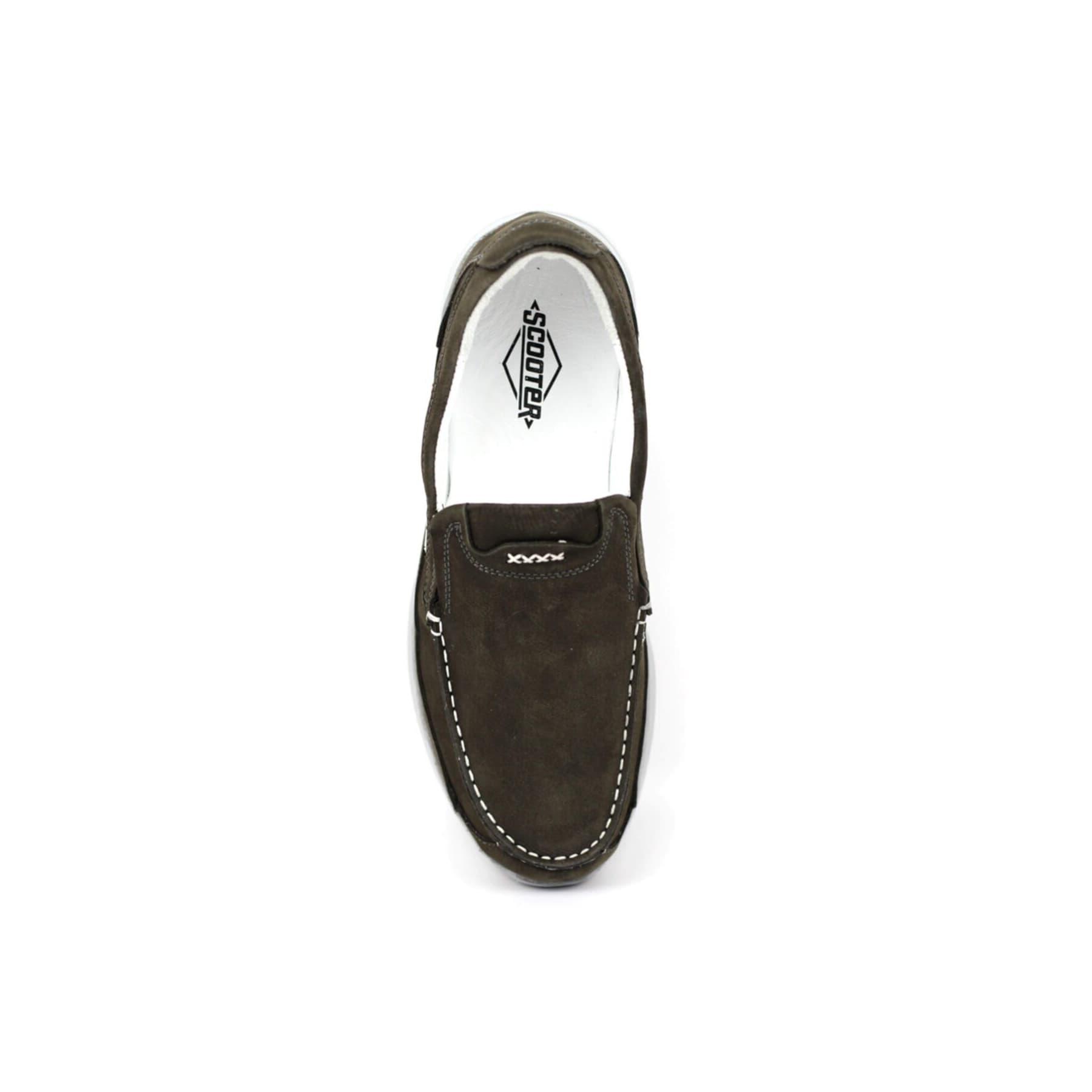 Erkek Haki Deri Bağcıksız Casual Ayakkabı (M1099NA)