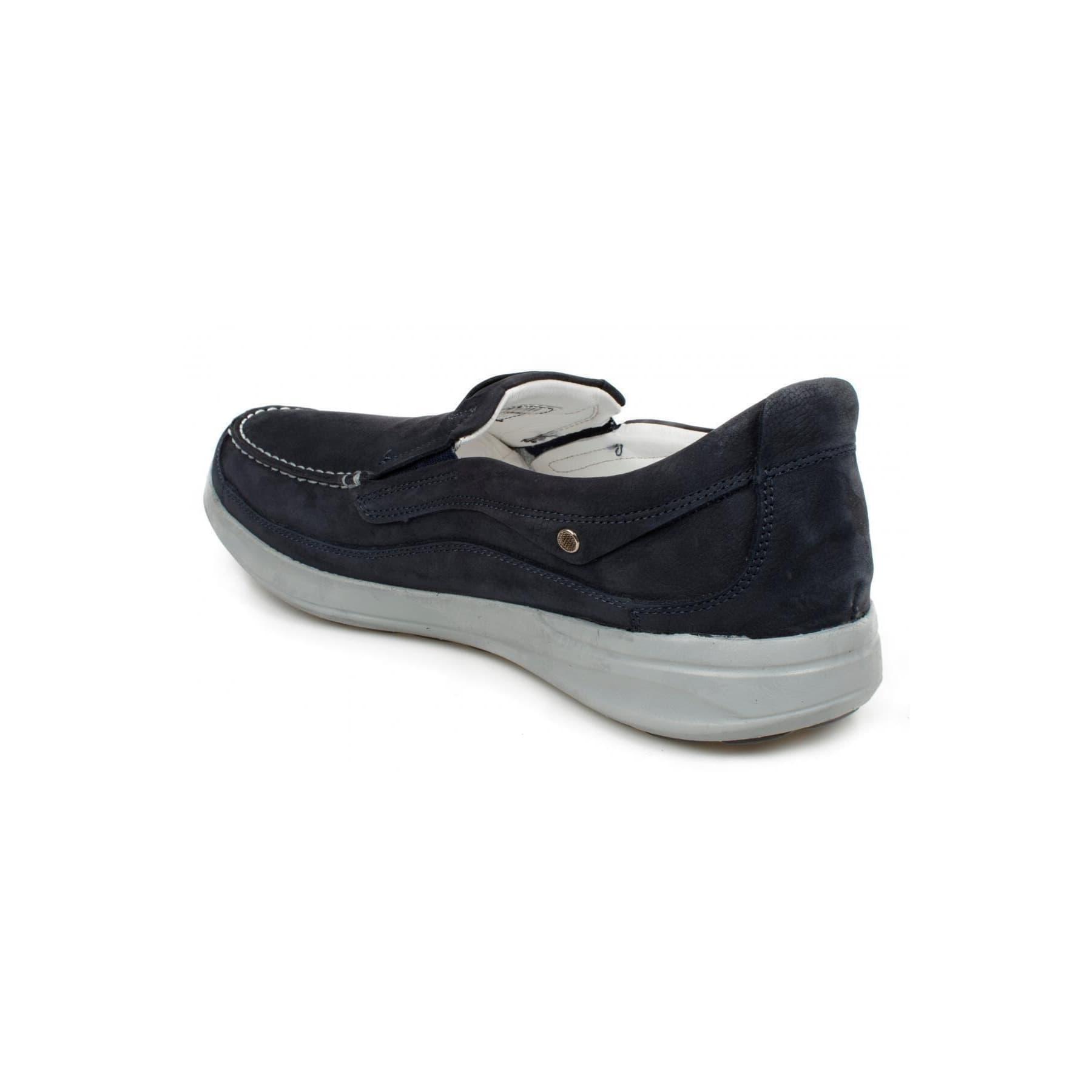 Erkek Lacivert Deri Casual Ayakkabı (M1099NL)